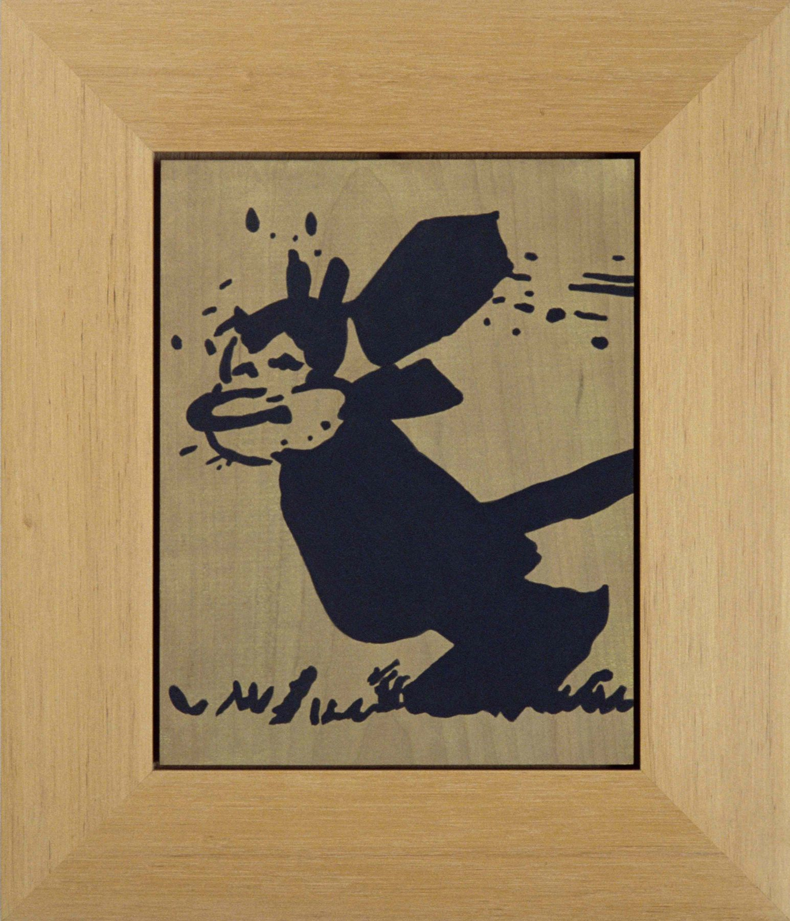 Sherrie Levine Untitled (Krazy Kat: 10), 1992 Casein on cherrywood 18 x 15.5 inches 45.7 x 39.4 cm