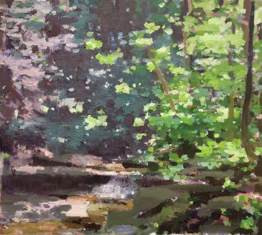 """Summer Glen, 30"""" x 34"""", Oil On Canvas"""