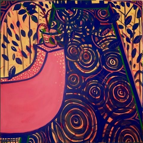 "Morocco Series, 48"" x 48"", Acrylic On Canvas"