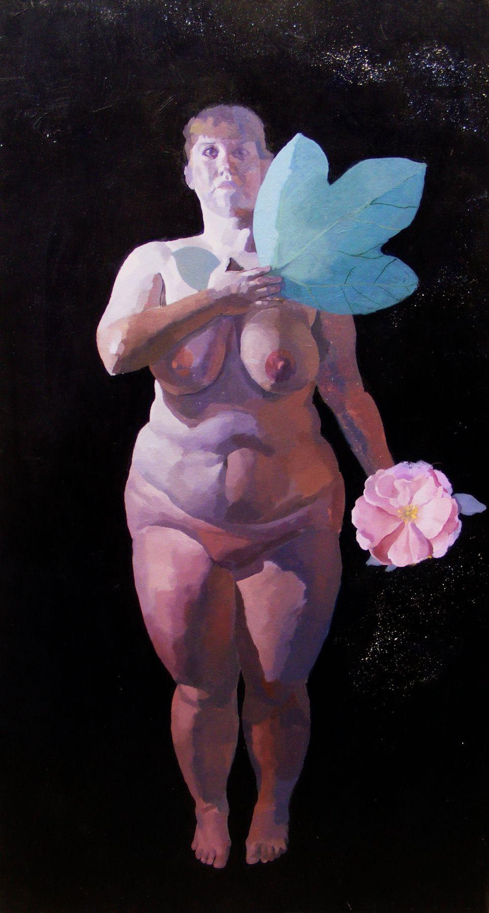 "Study Of The Heart, 72"" x 38"", Acrylic On Canvas"