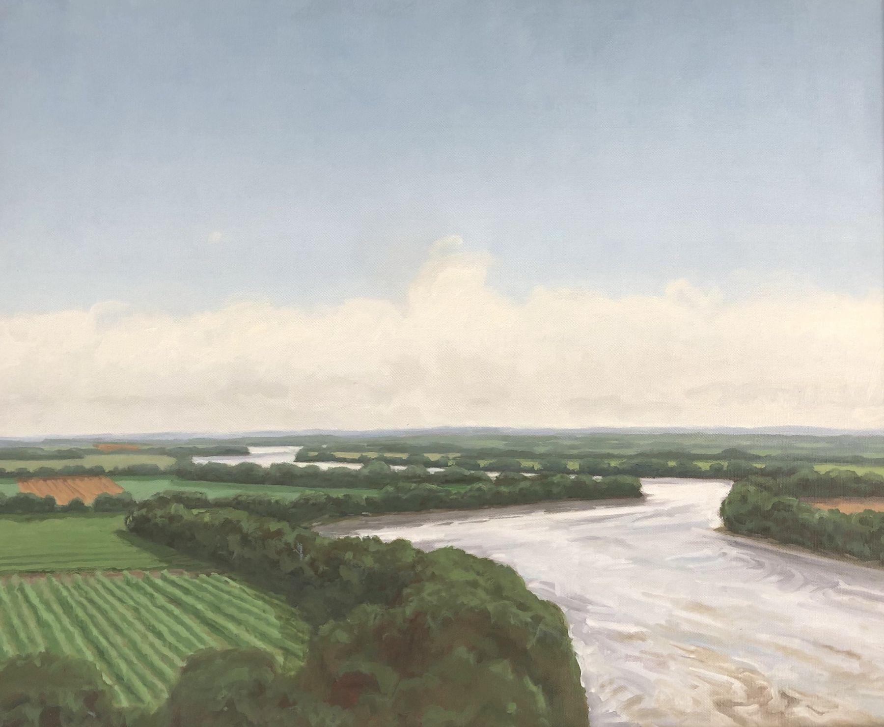 "Afternoon On The Missouri, 26"" x 32"", Oil On Canvas"