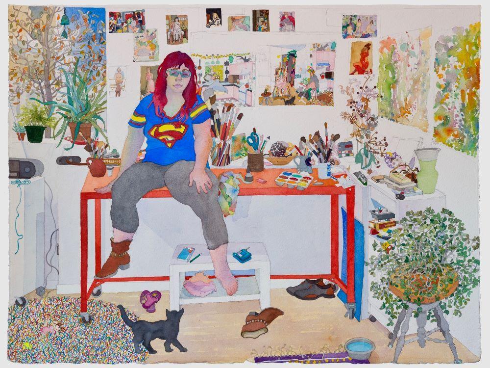 Joan Becker, Studio Motel, Watercolor