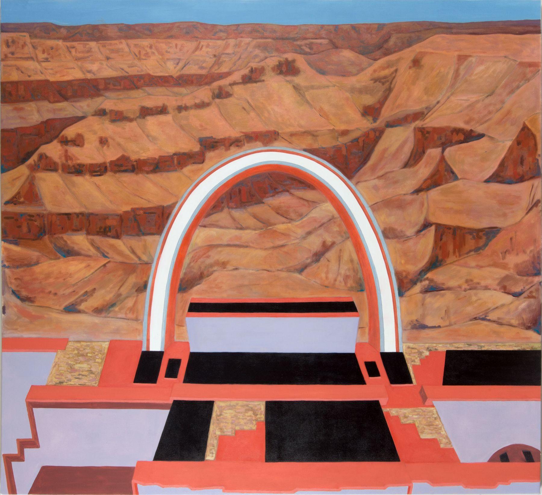 "Dave Walsh, Skywalk, Oil On Canvas, 62"" x 70"""