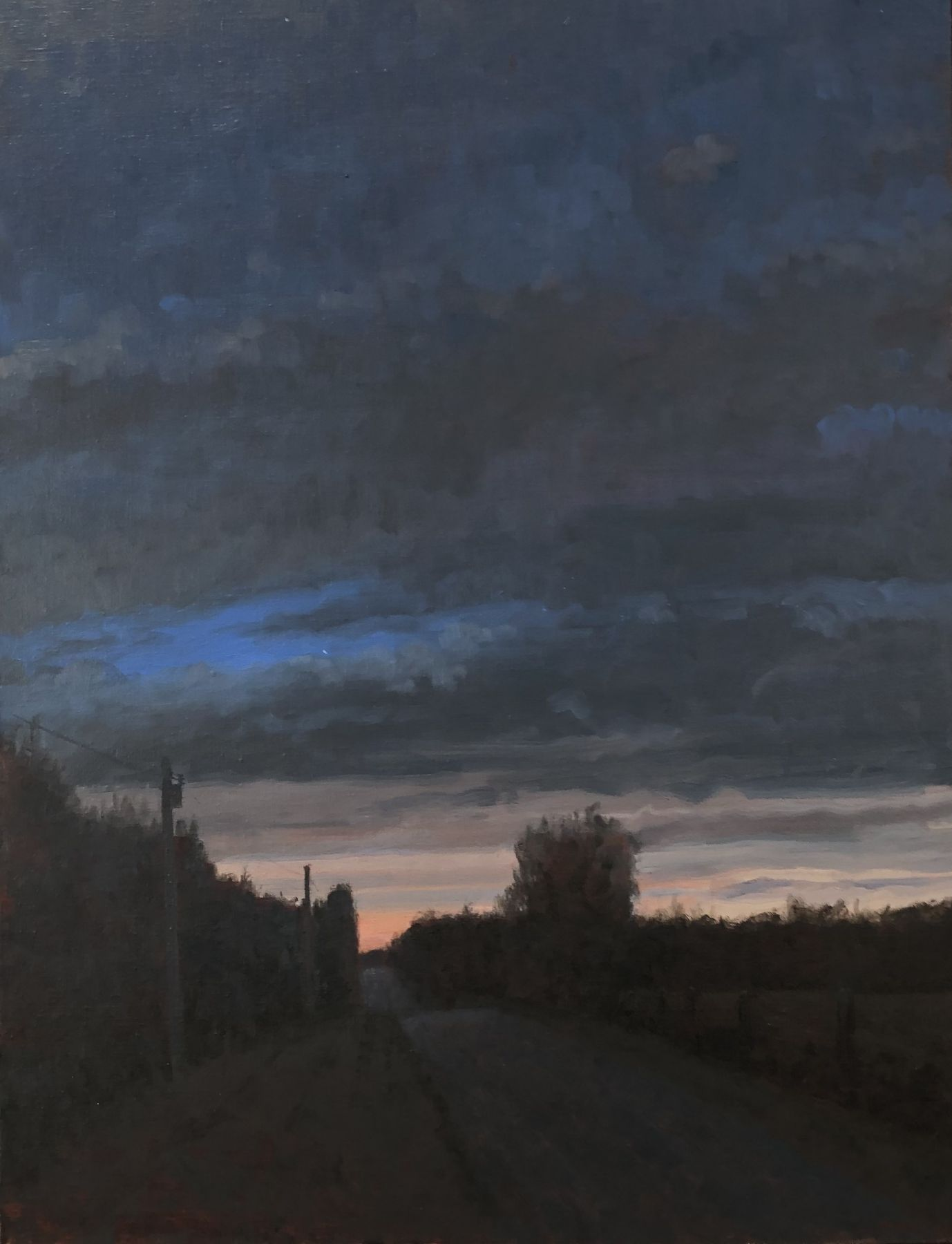 "Twilight, Saline County, 22"" x 24"", Oil On Canvas"