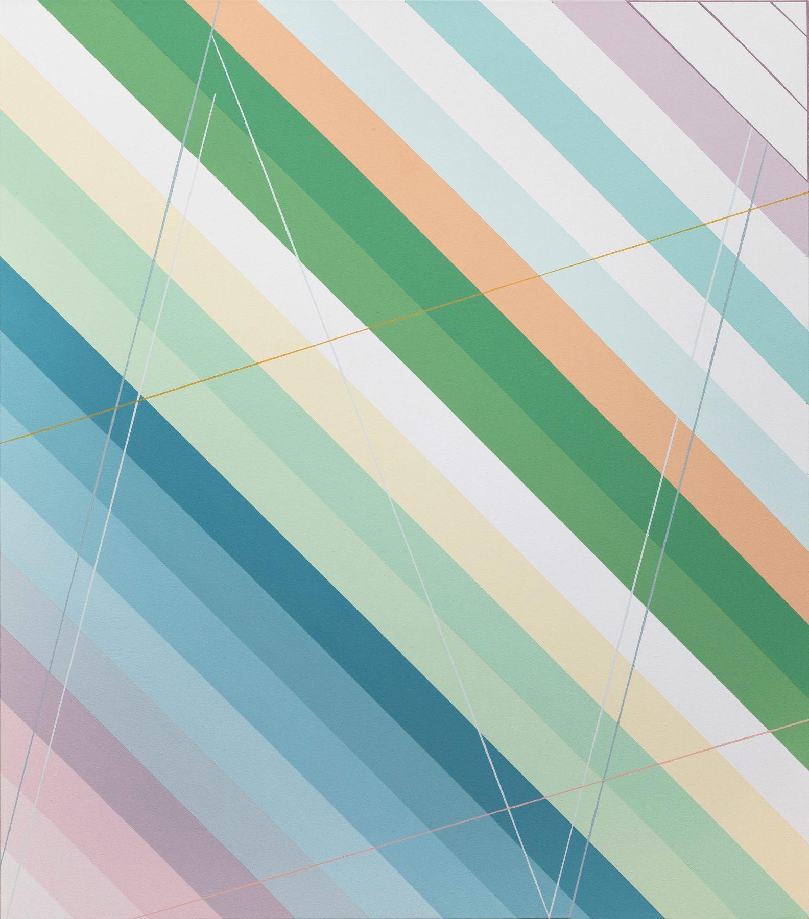 "Mirage, 44"" x 50"", Acrylic Paint On Canvas"