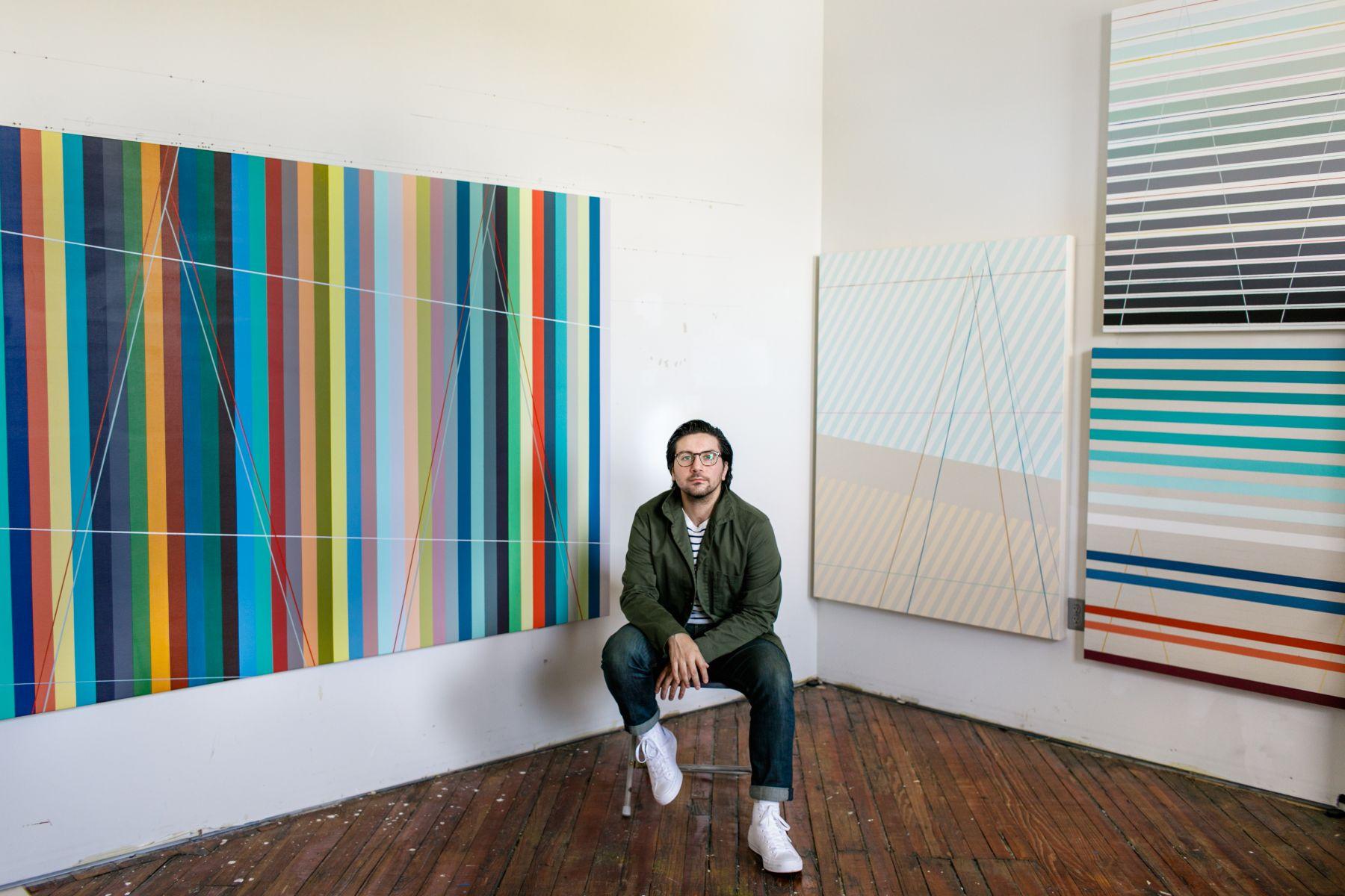Thomas Paul Raggio in his studio.