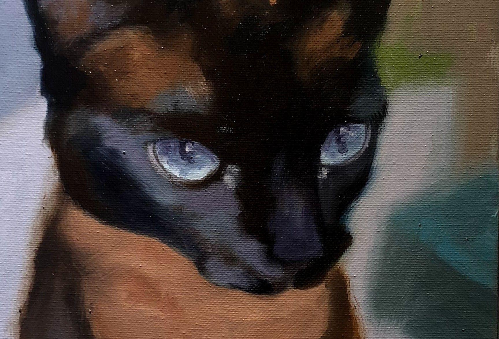 "Midnight (Detail), 10"" x 8"", Oil On Canvas"