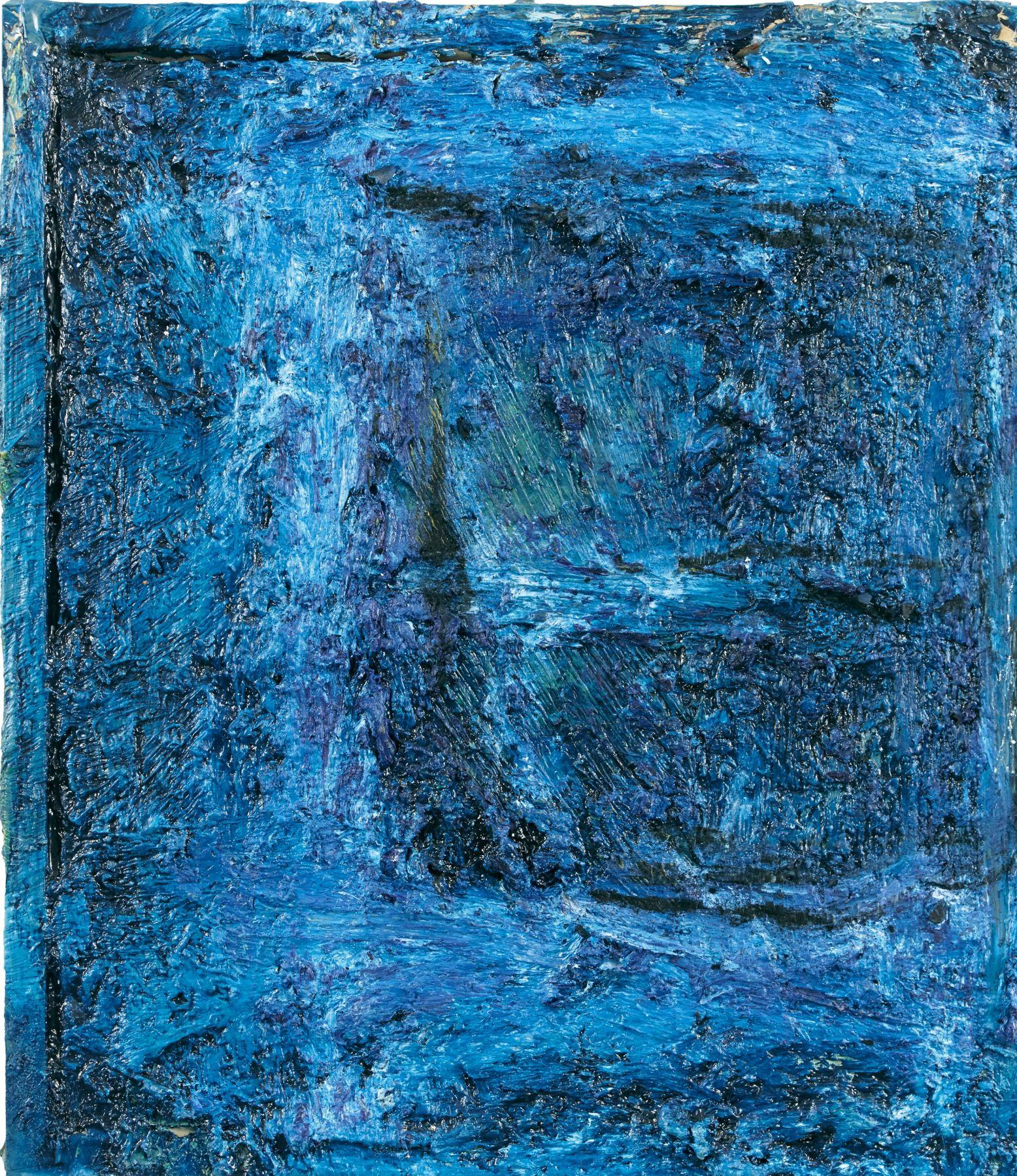 """Night Window, 17"""" x 15"""", Oil On Canvas"""