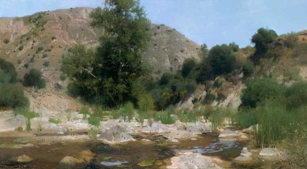 """July Streambed  32"""" x 58""""  Oil On Canvas"""