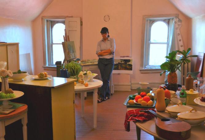 Elizabeth Geiger In Her Studio (courtesy Painting Perceptions)