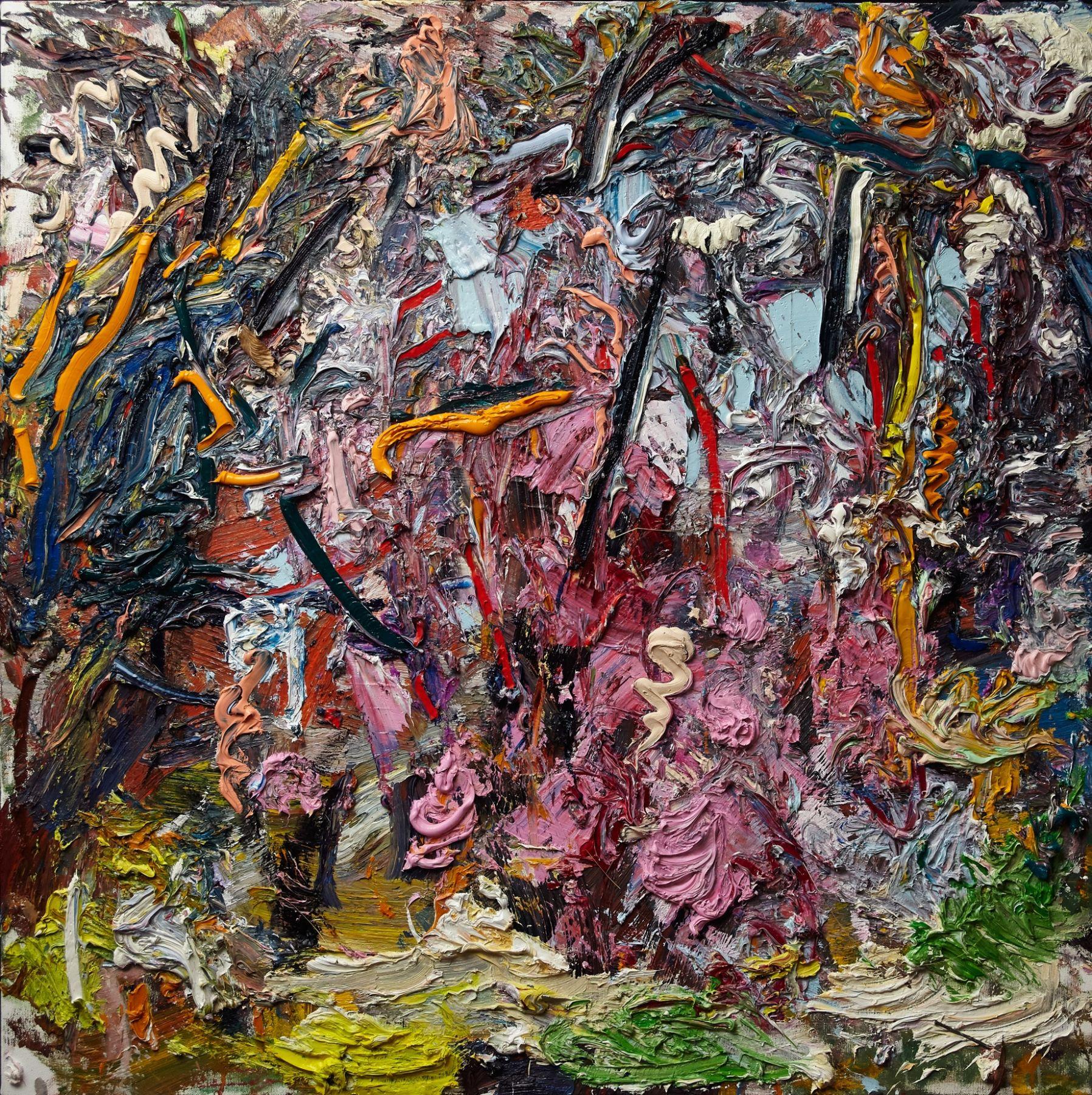 """Cherry Blossom, 36"""" x 36"""", Oil On Linen"""