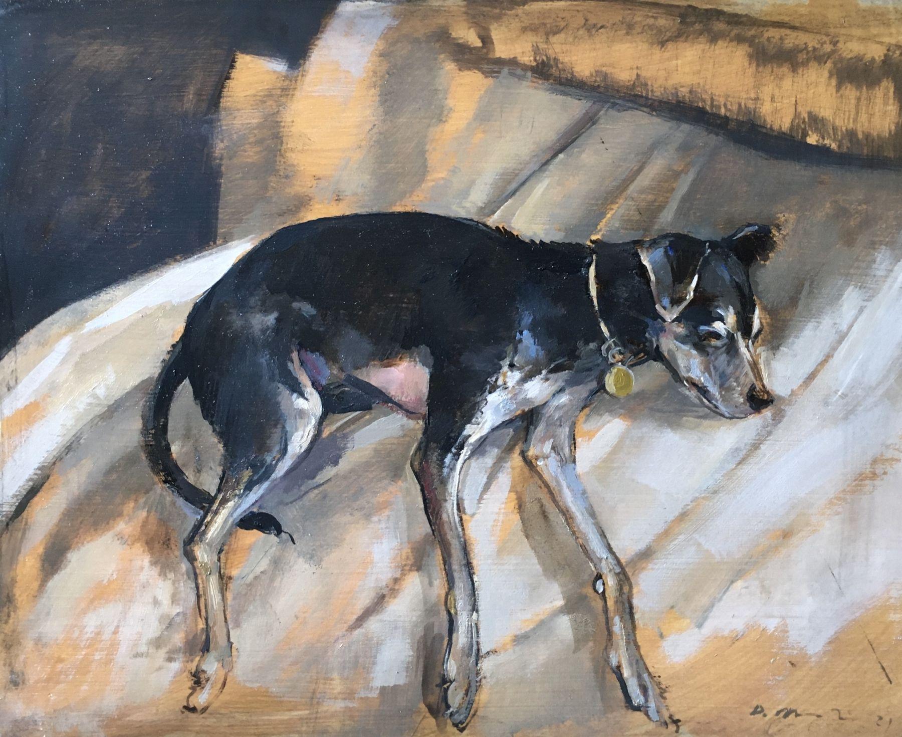 """Douglas Martenson, Banana Resting, 11"""" x 14"""", Oil On Panel"""