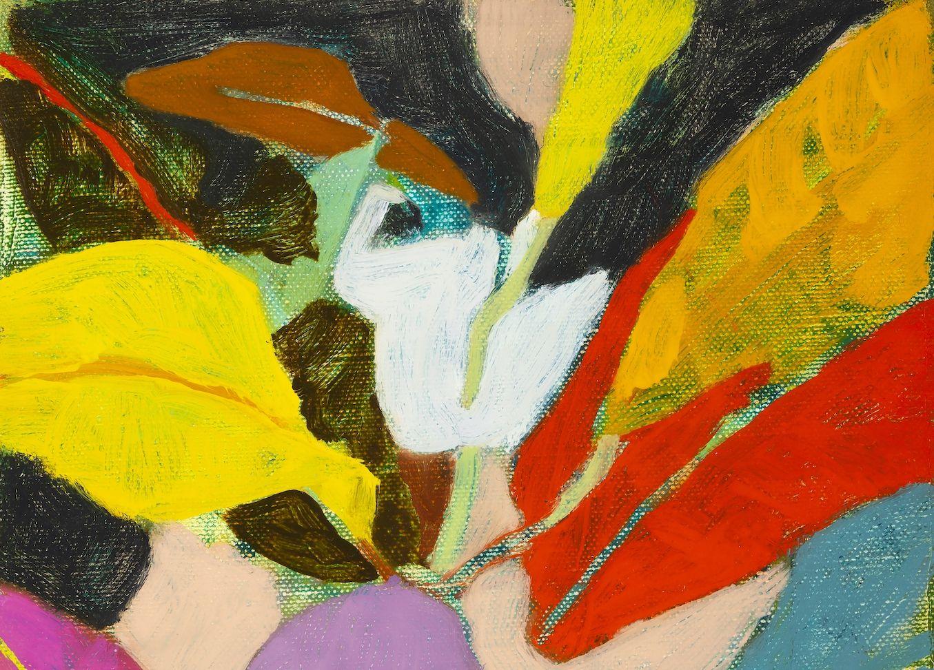 """Broadleaf, 10"""" x 8"""" Oil On Canvas"""