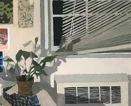"""Broken Blinds, 48"""" x 34.25"""", Oil/Canvas, Mounted On Panel"""