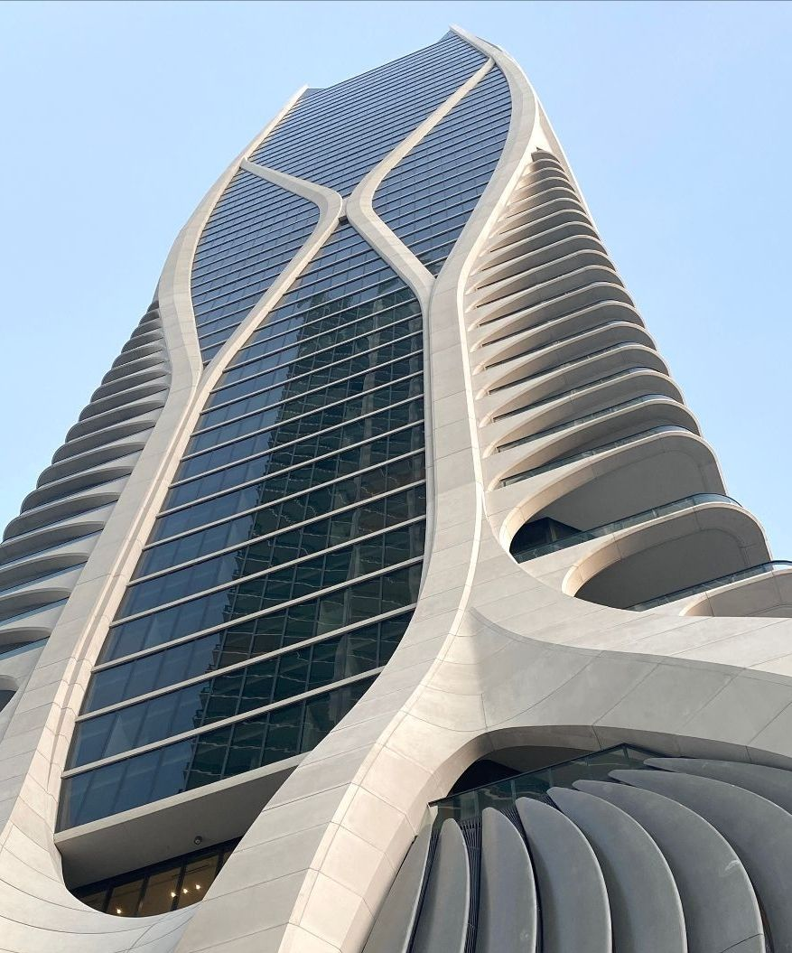 Exterior of Zaha Hadid's 1000 Museum. Details of the exoskeleton.