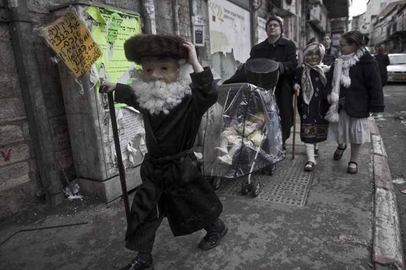 Purim, Mea Shearim, 2013