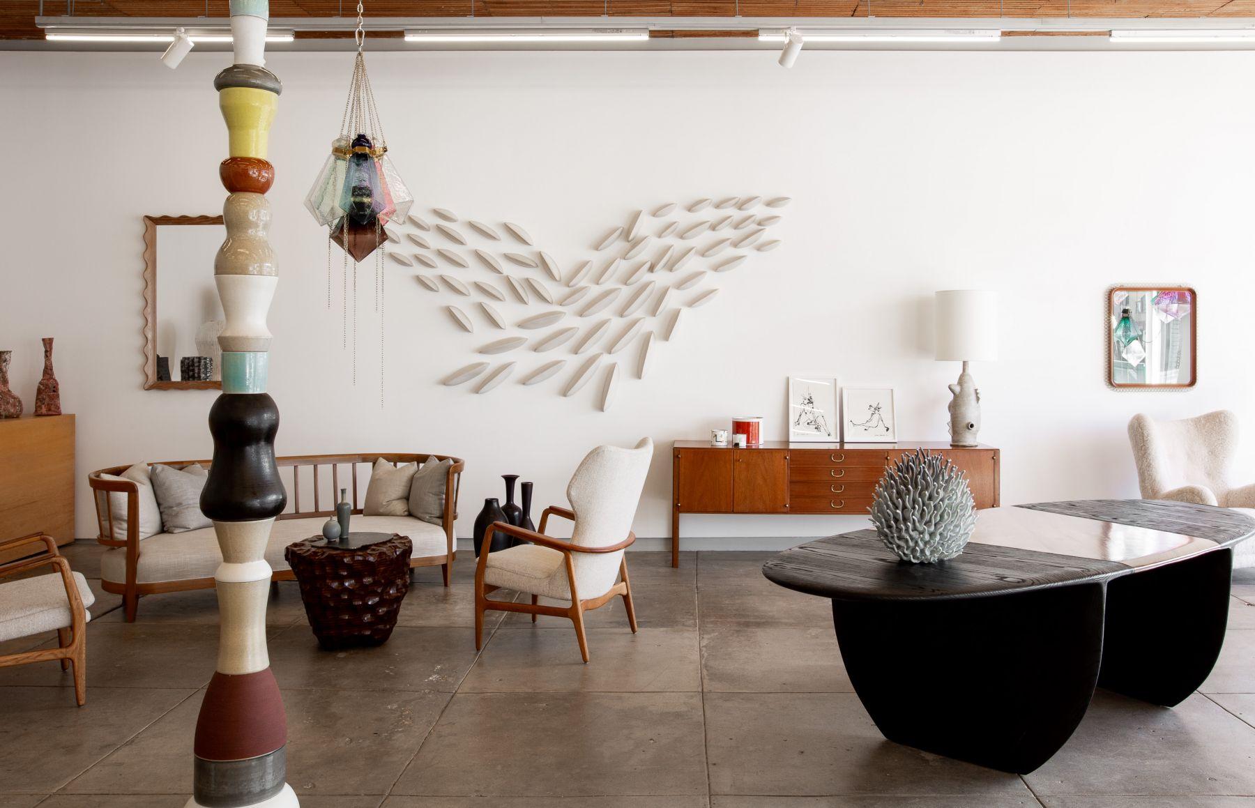 Nicola Tassie Folly Totem at Hostler Burrows Los Angeles