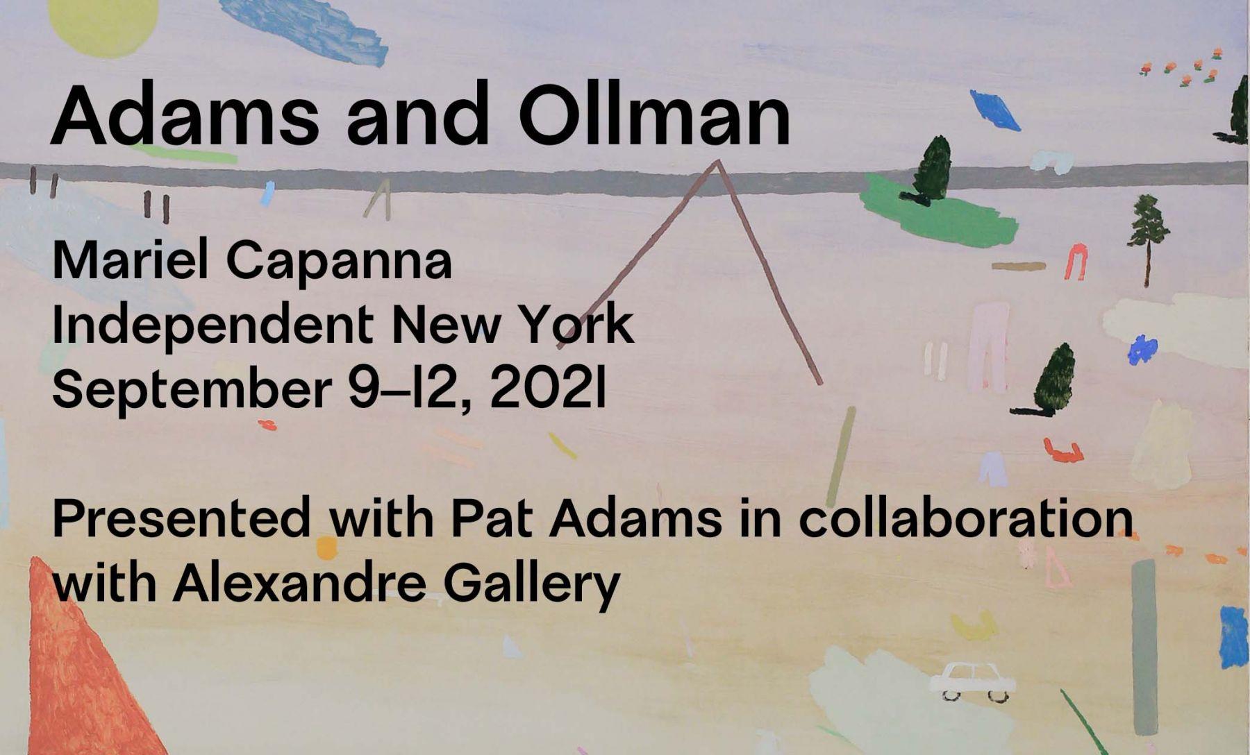 Mariel Capanna with Pat Adams at Independent New York