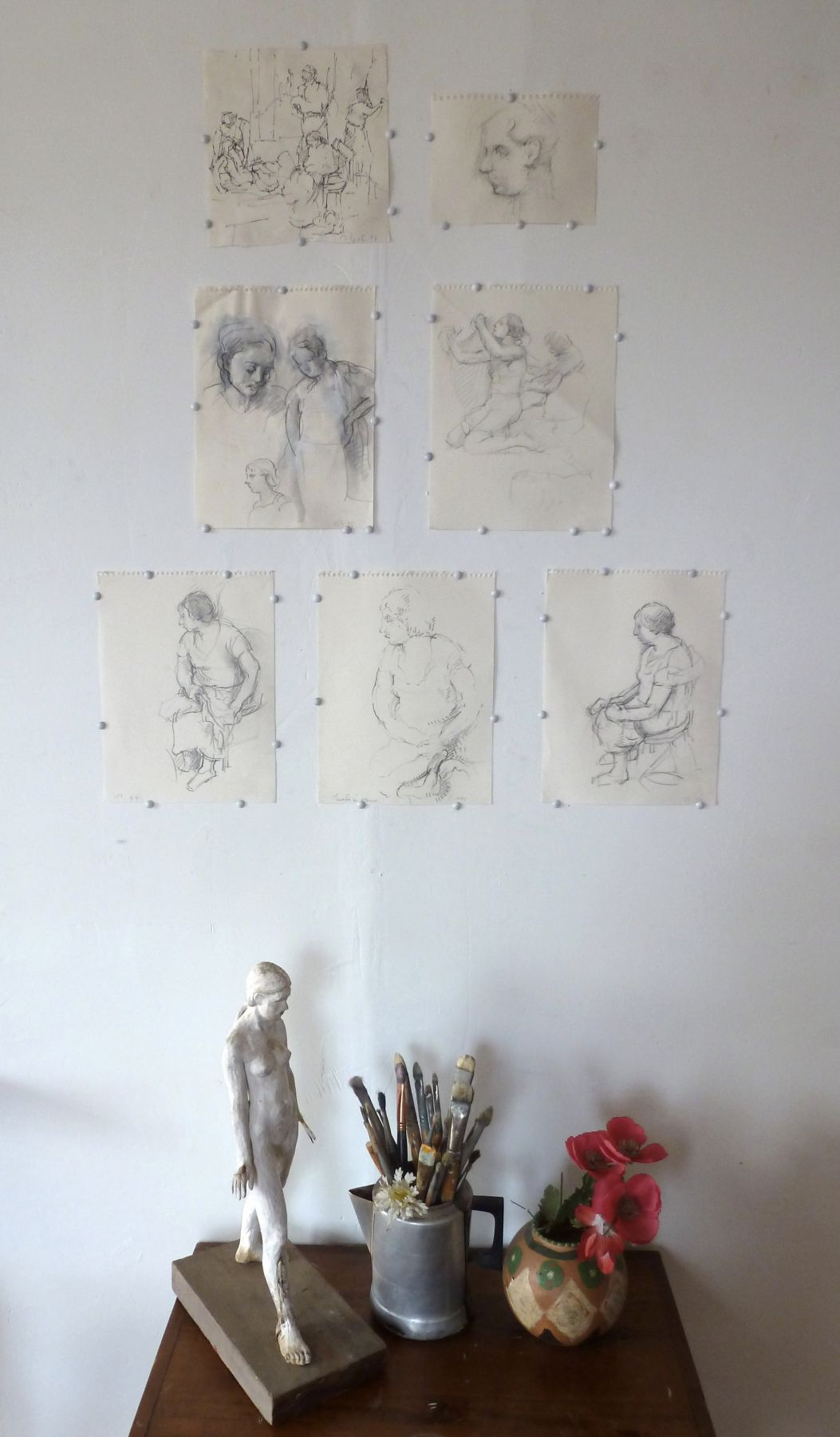 West Wall with Drawings