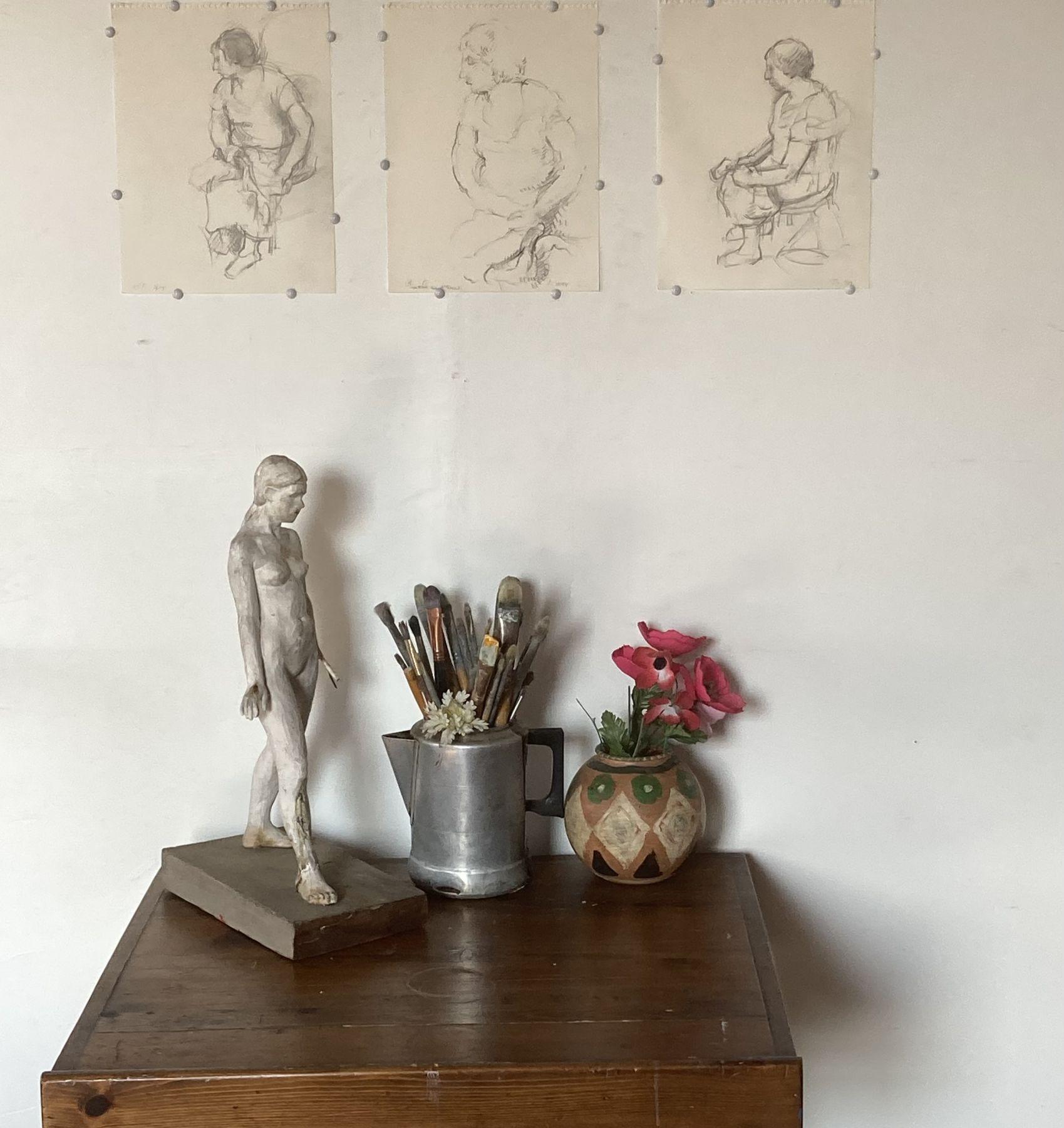 Eva's Photo of Doris Drawings