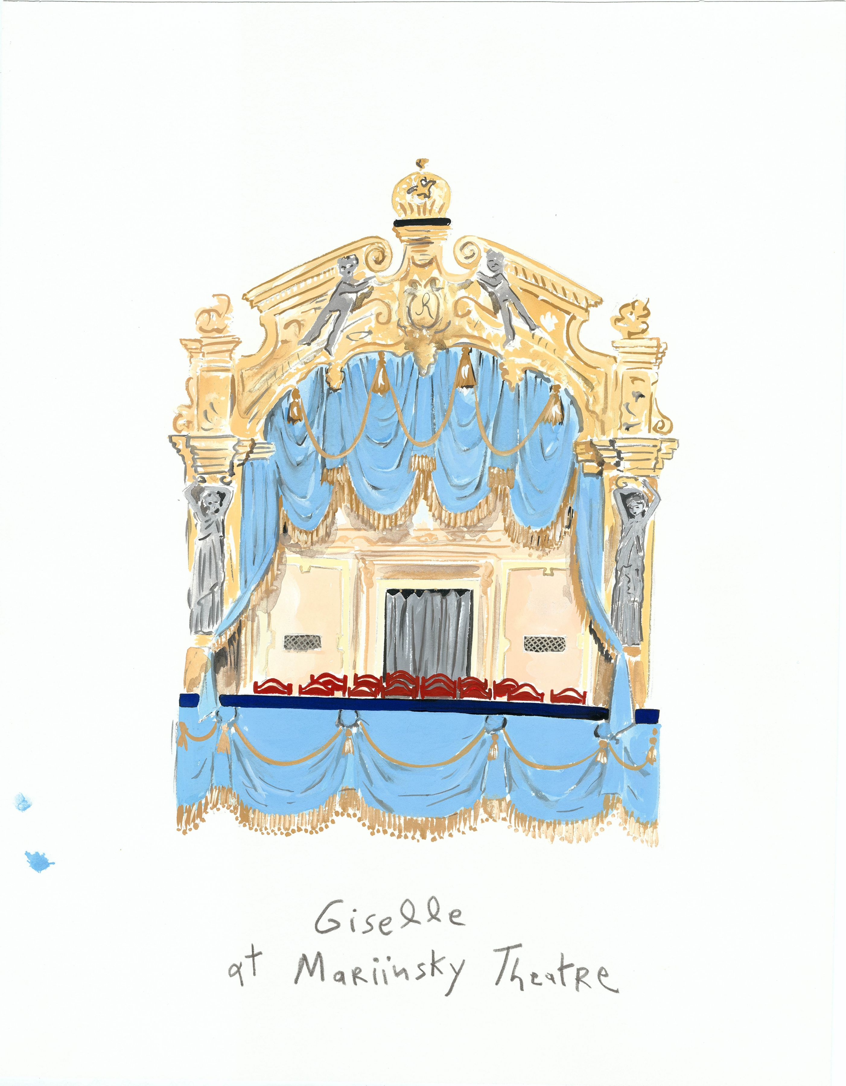 Cultural Capital (Mariinsky Theatre), 2013, Gouache on paper