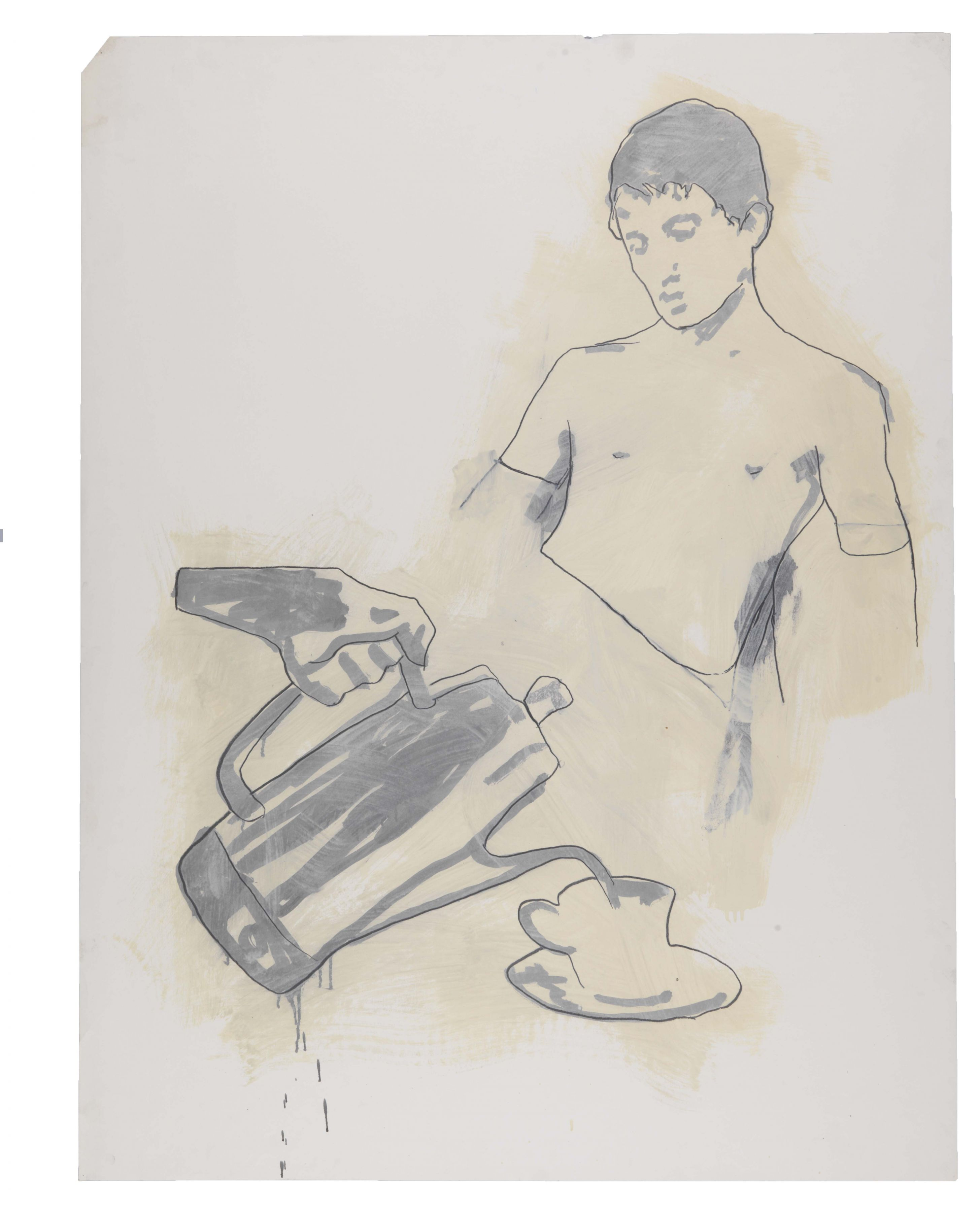 Monotone Drawing, 1981, Graphite and oil-based enamel on paper