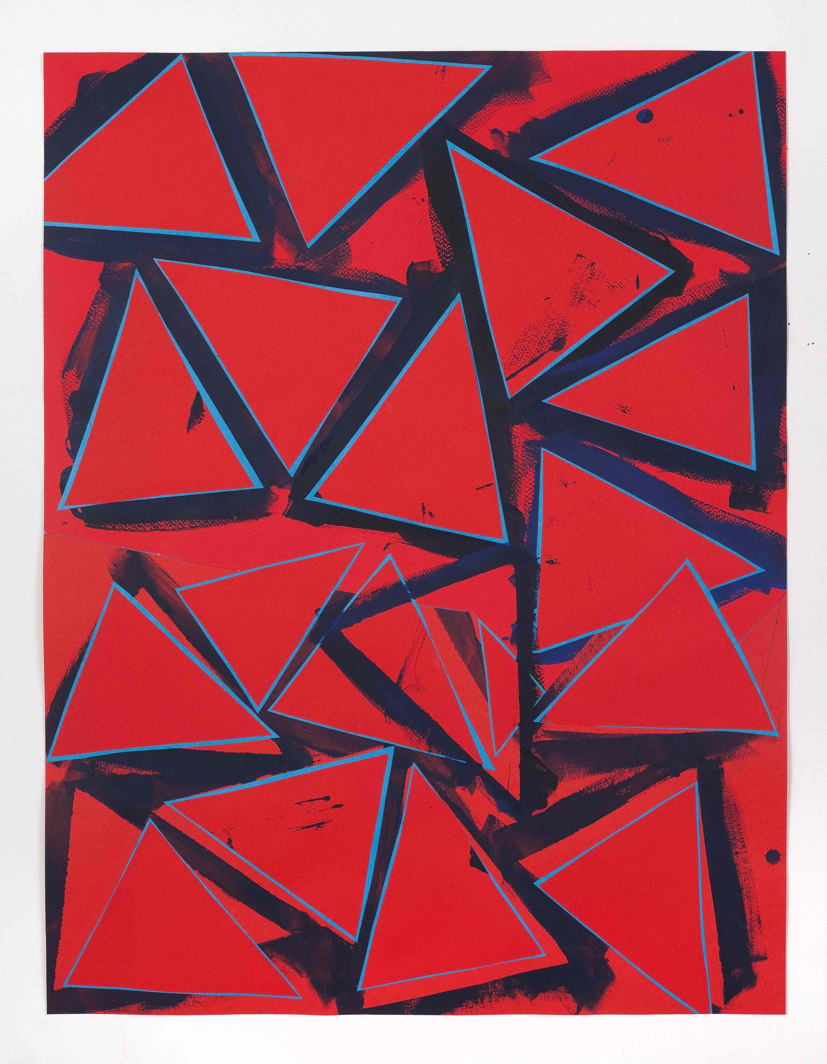 Lecia Dole-Recio, Untitled (rd.ppr.bl.trngls.bl.Ins.), 2013