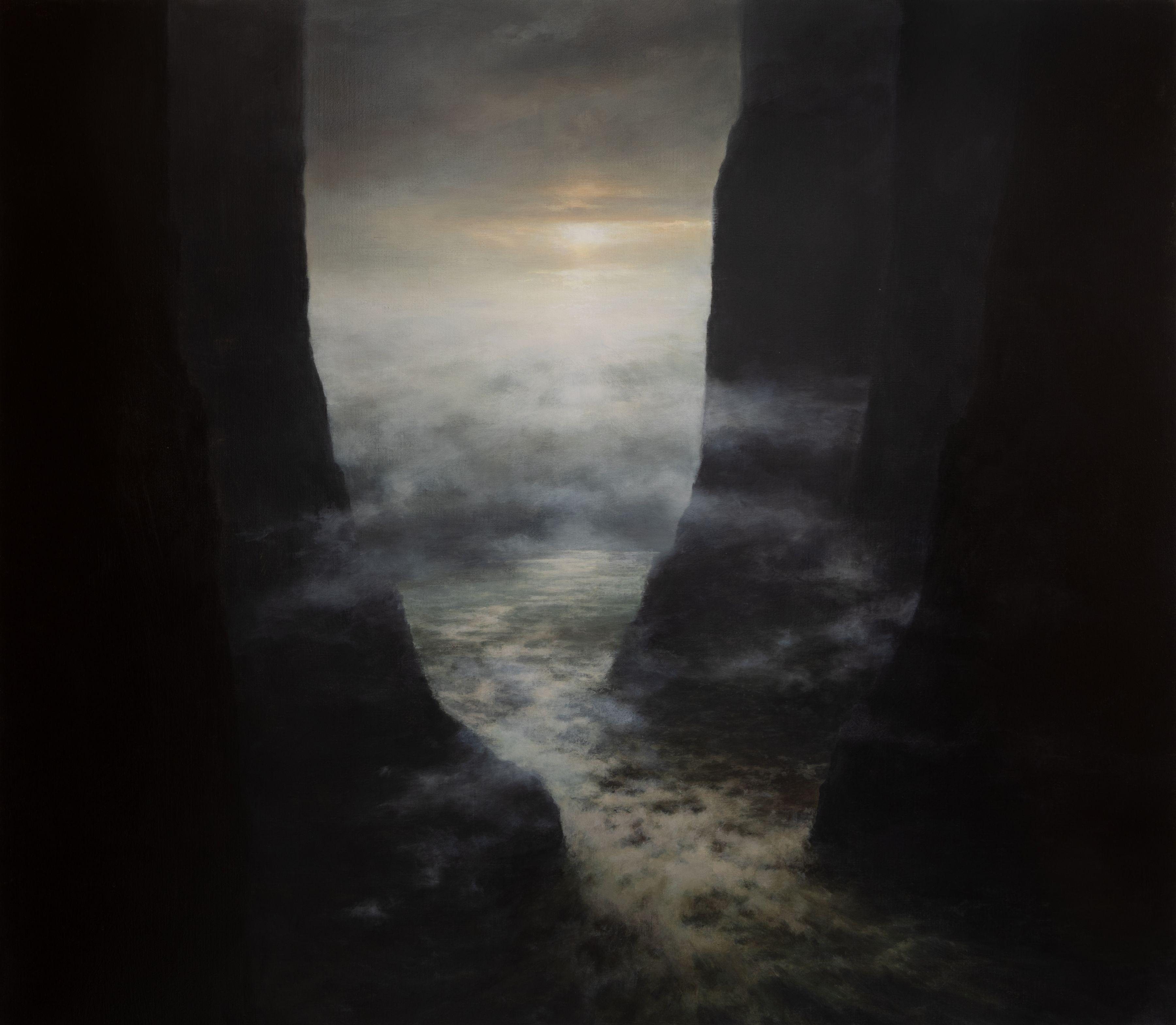 seascape cliffs rapids