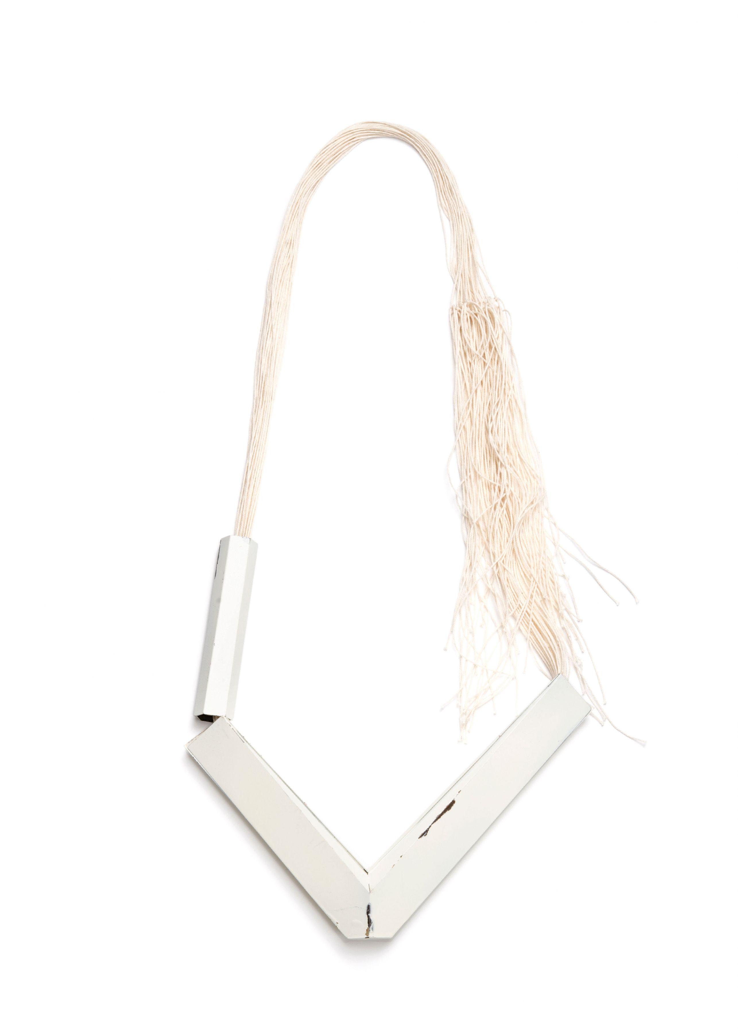 Sara Borgegard, necklace, steel, Swedish, art jewelry