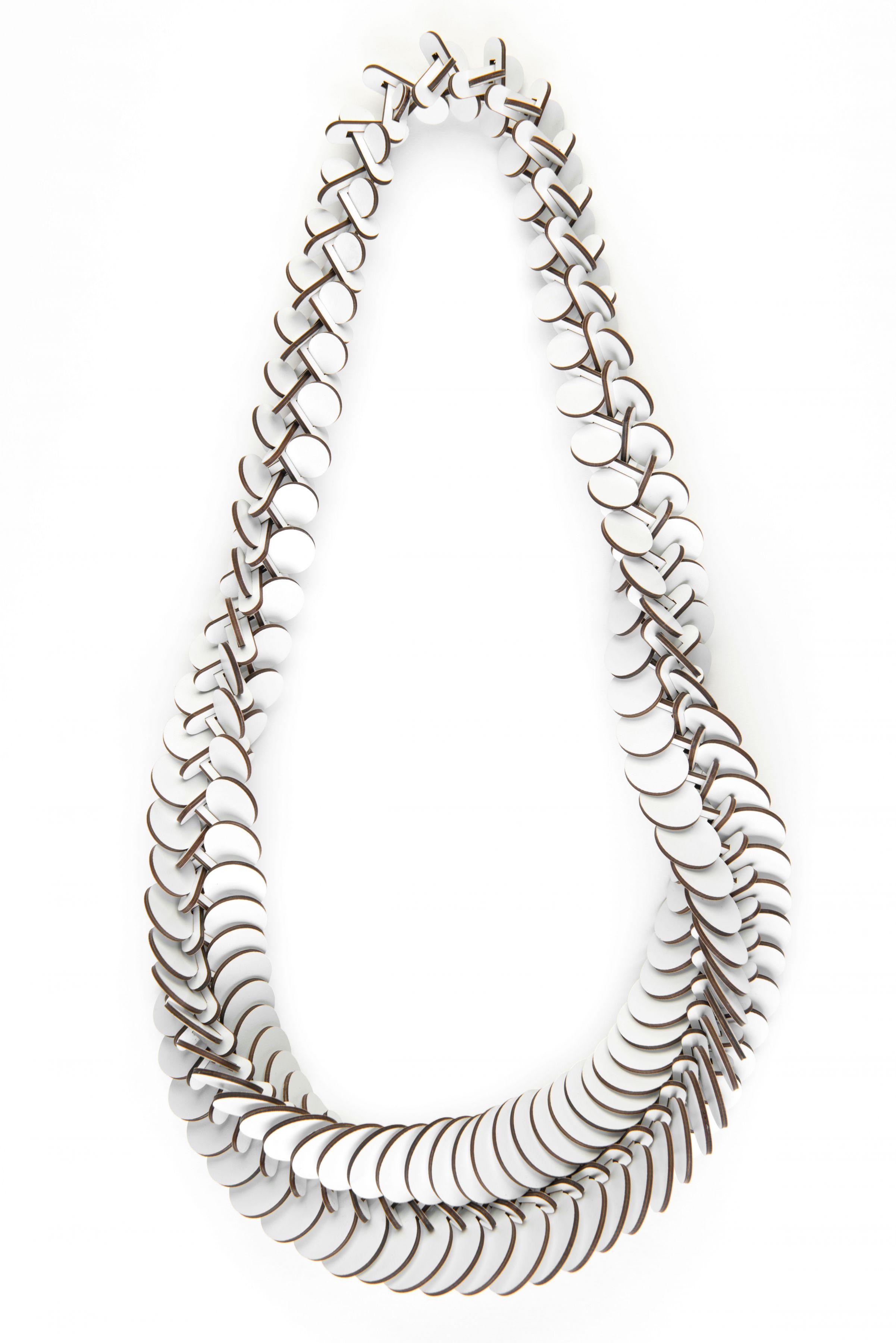 Rebecca Hannon necklace formica, white