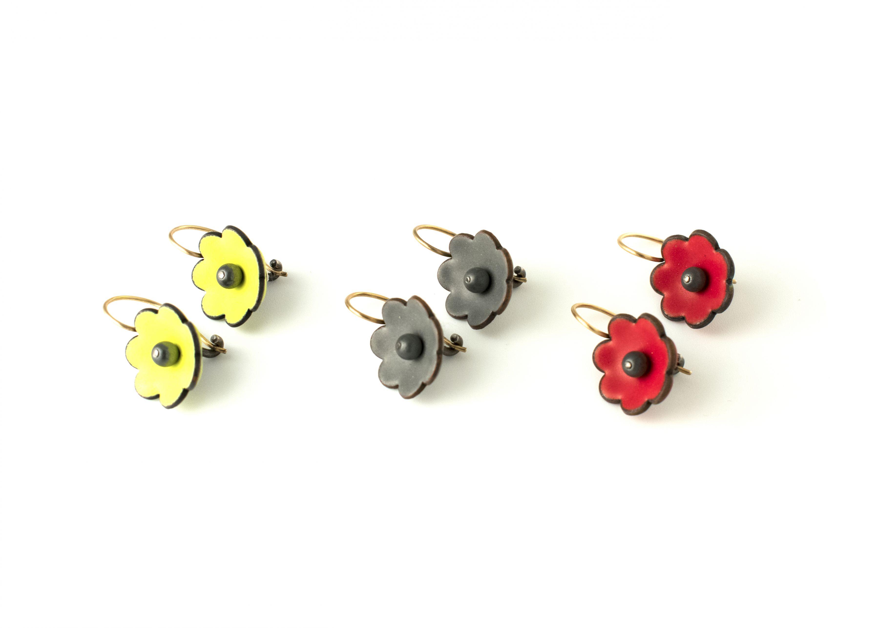 Joan Parcher, flowers, earrings, jewelry