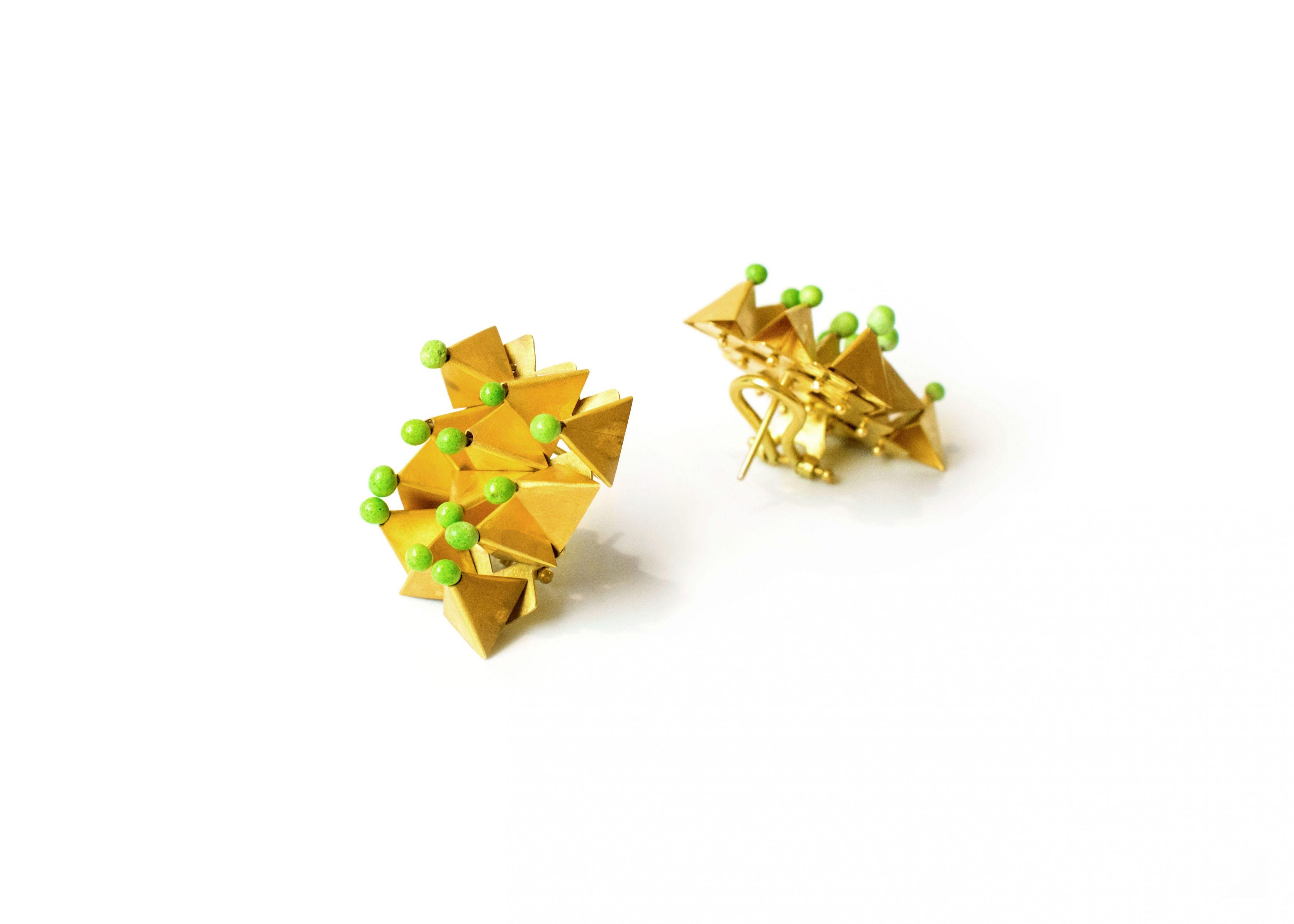 Jacqueline Ryan, gold, Italian jewelry, enamel, mini masterpieces