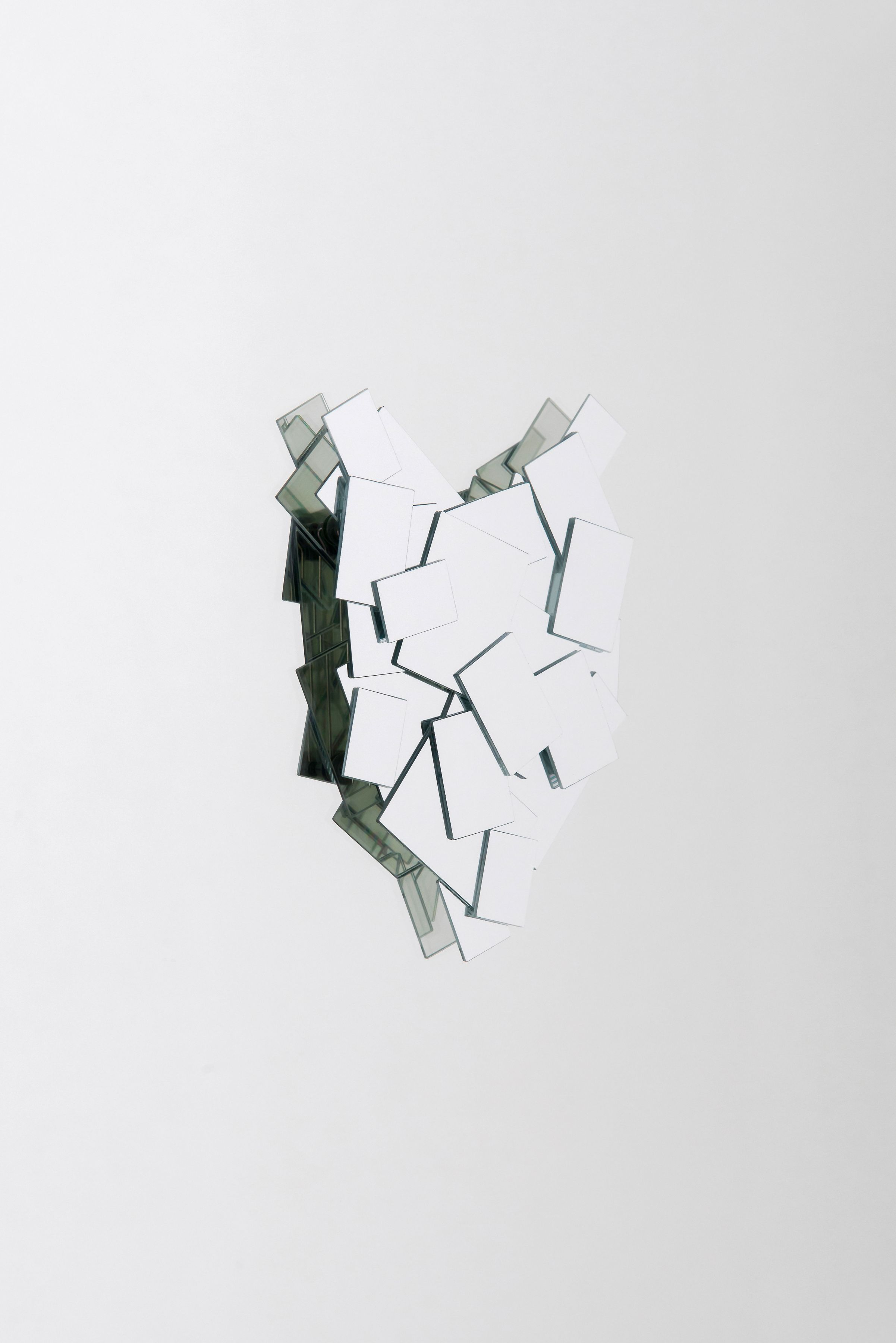 Jiro Kamata, glass jewelry, contemporary, dichroic mirror, necklace, ghost