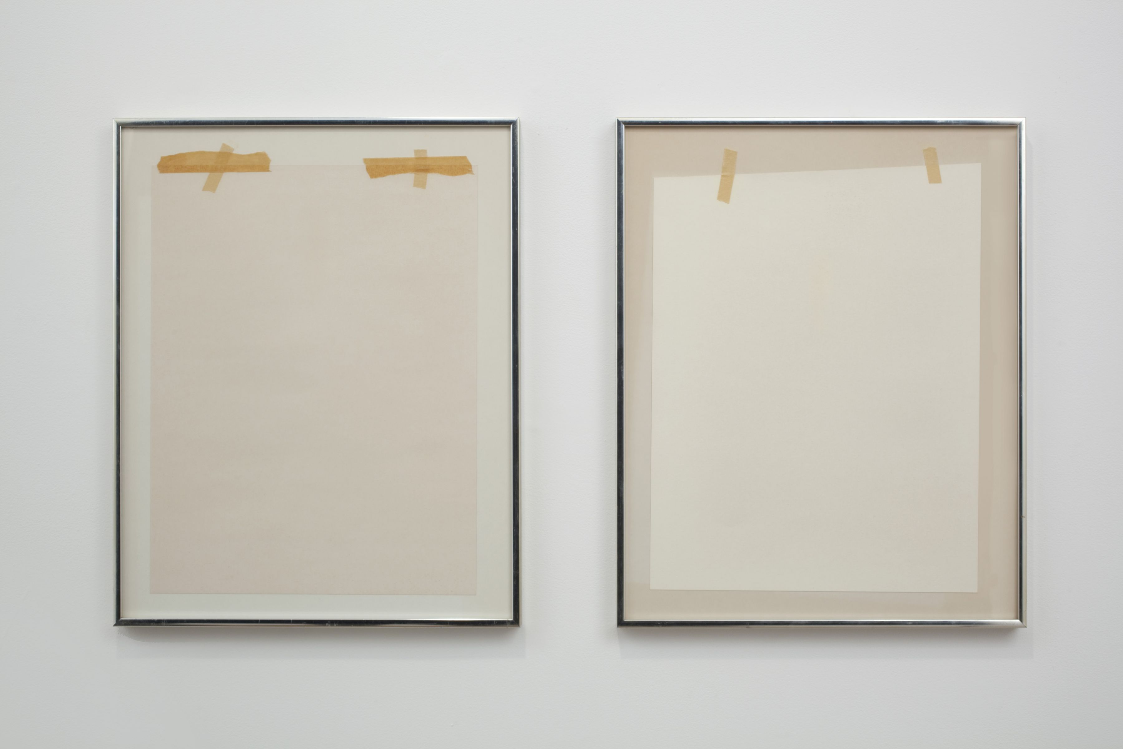 Gedi Sibony, The Fortunoff Girls, 2010, matted posters reversed in frame, 20 1/4 x 16 1/4 x 1 inches each