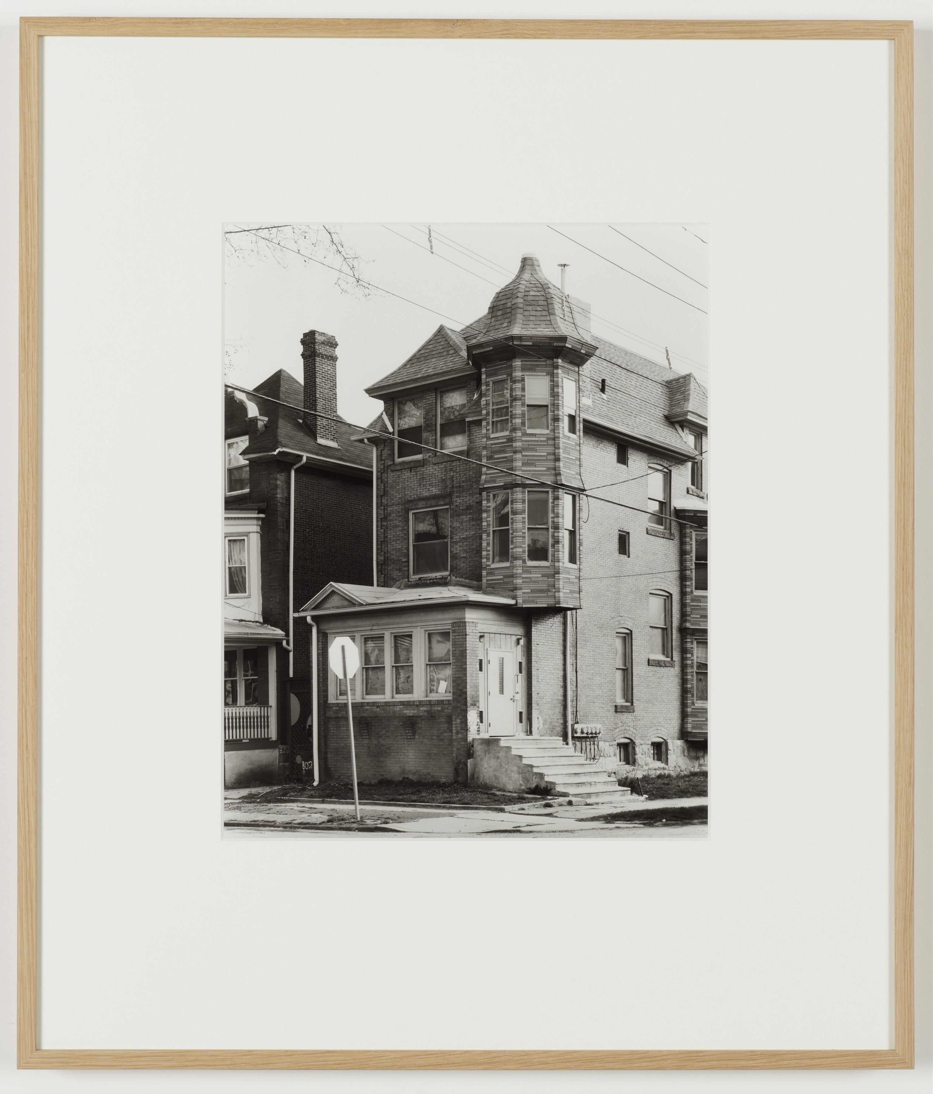 Joachim Koester, Some Boarded Up Houses, Philadelphia #2, 2009-2013, Silver gelatin print, 27 x  22 5/8 inches (68.6 x 57.5 cm)