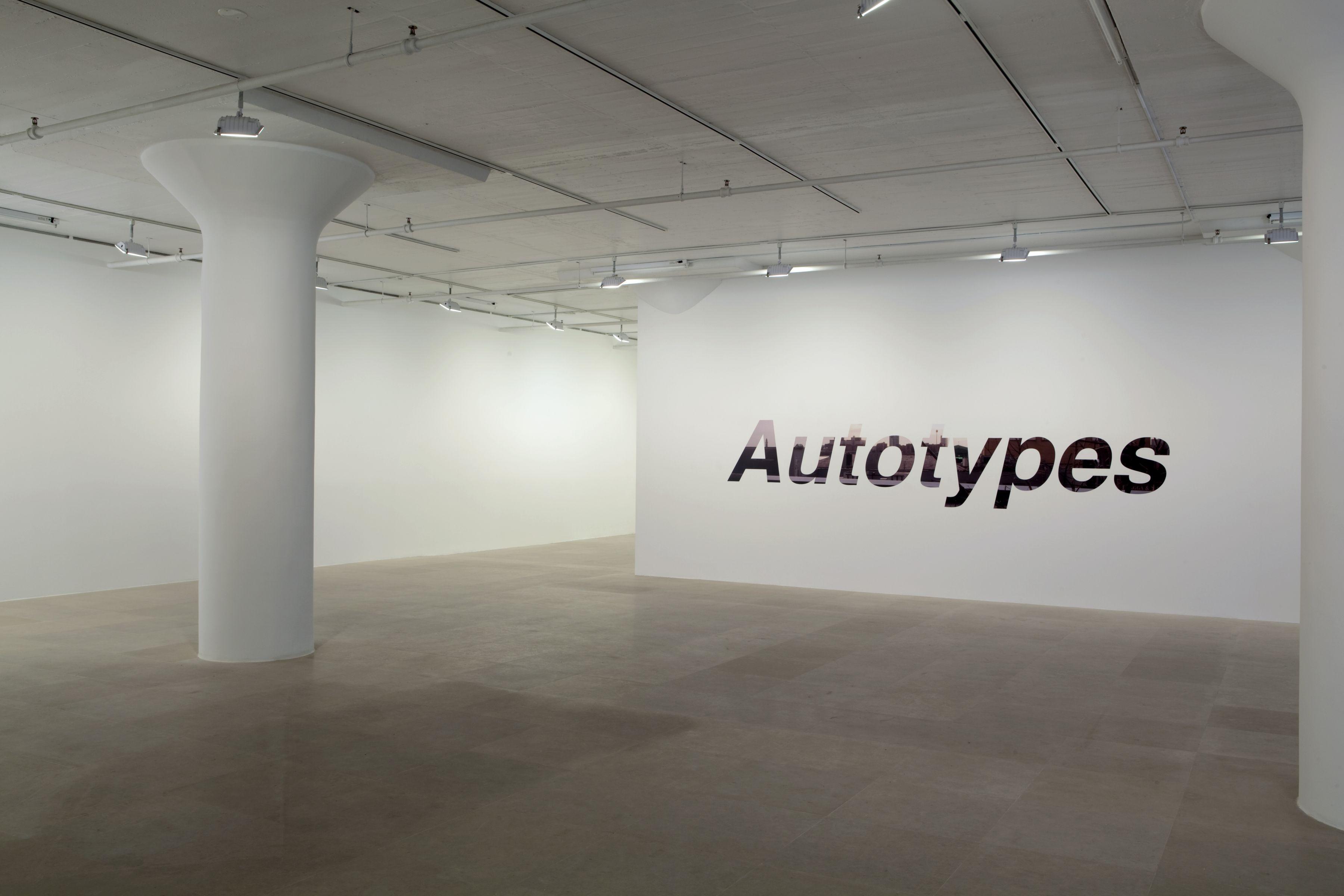 John Knight, Installation view, Autotypes, a work in situ, Greene Naftali, New York, 2011