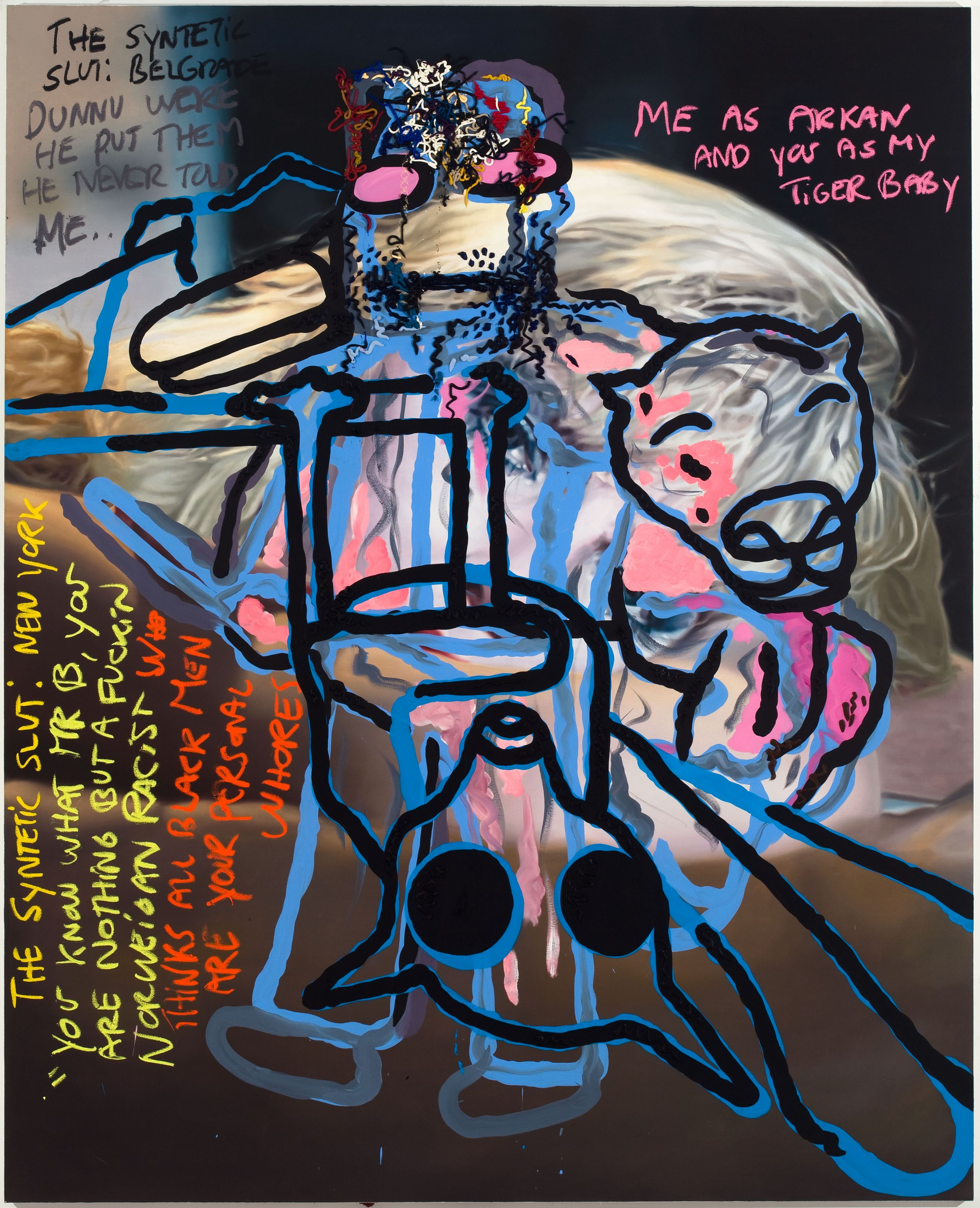 Bjarne Melgaard, Untitled, 2010, oil on canvas, 110.25 x 89 x 2 inches