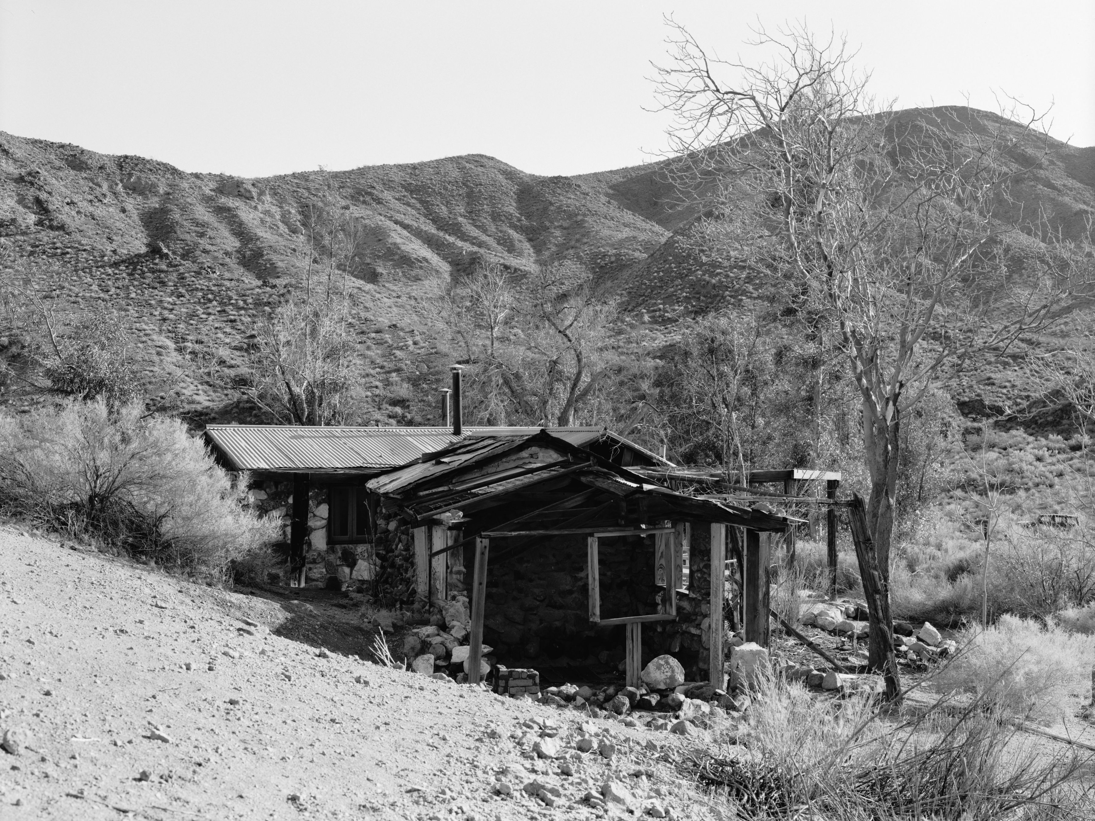 Joachim Koester, Barker Ranch, 2006, Suite of four Selenium toned silver gelatin prints, 20 x 24 inches
