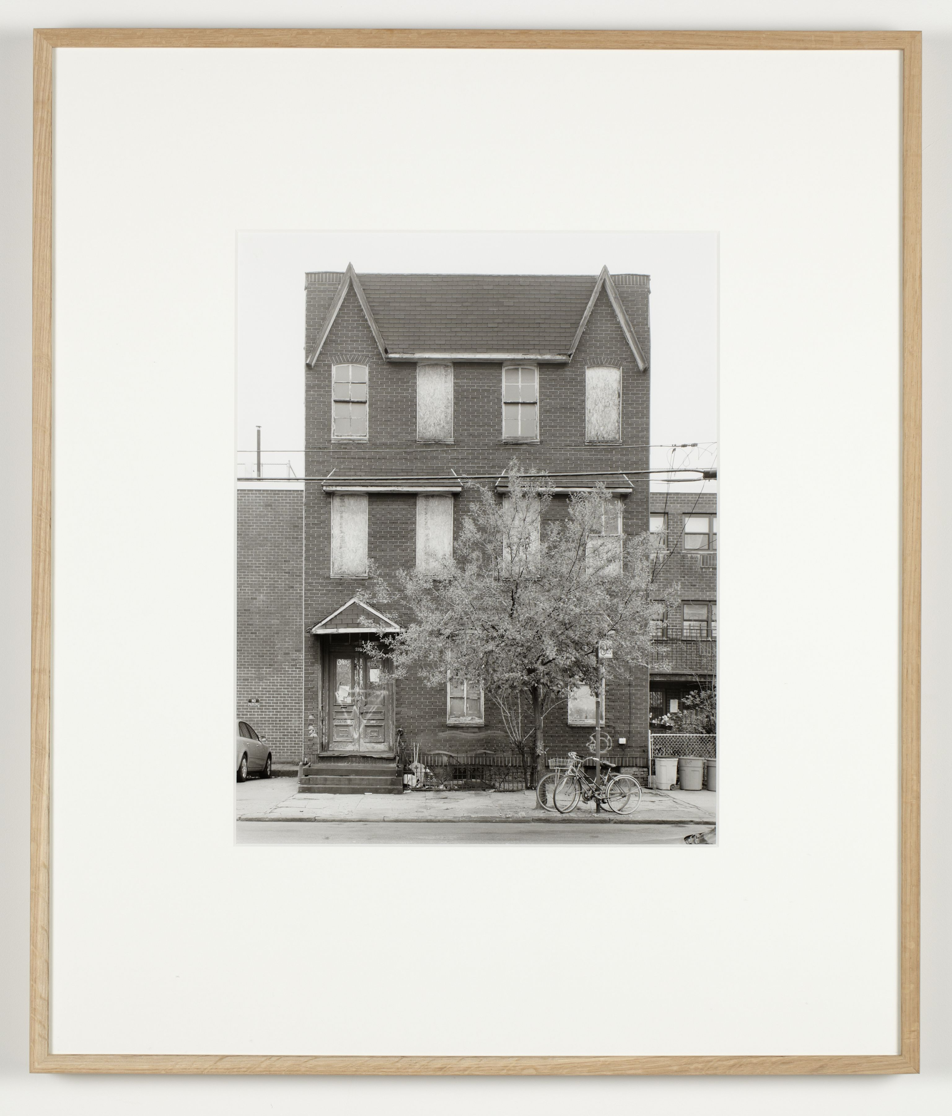 Joachim Koester, Some Boarded Up Houses, Brooklyn #1, 2009-2013, Silver gelatin print, 27 x 22 5/8 inches (68.6 x 57.5 cm)