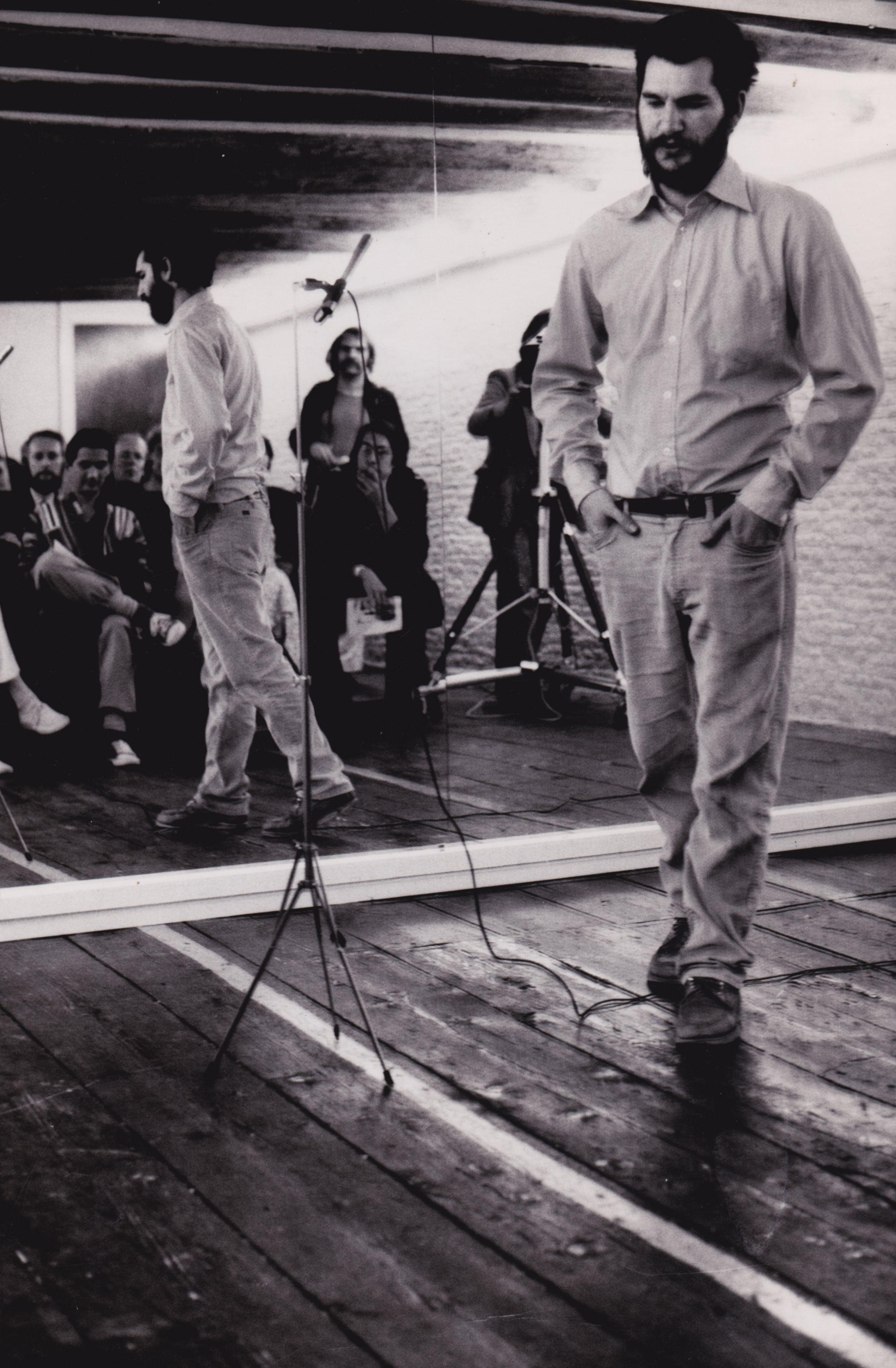 Performer Audience Mirror   De Appel, Amsterdam, 1977