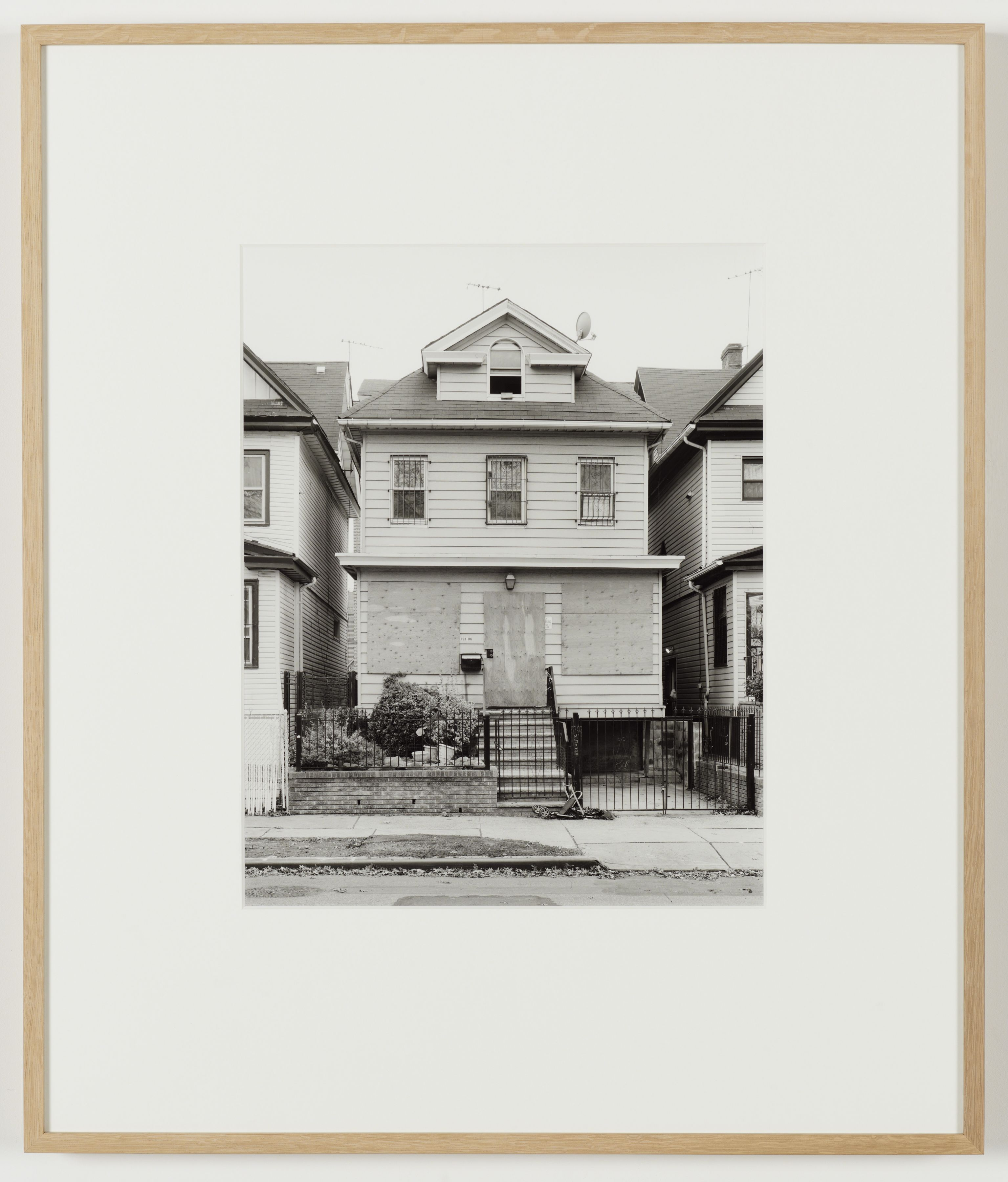 Joachim Koester, Some Boarded Up Houses, Queens #5, 2009-2013, Silver gelatin print, 27 x  22 5/8 inches (68.6 x 57.5 cm)