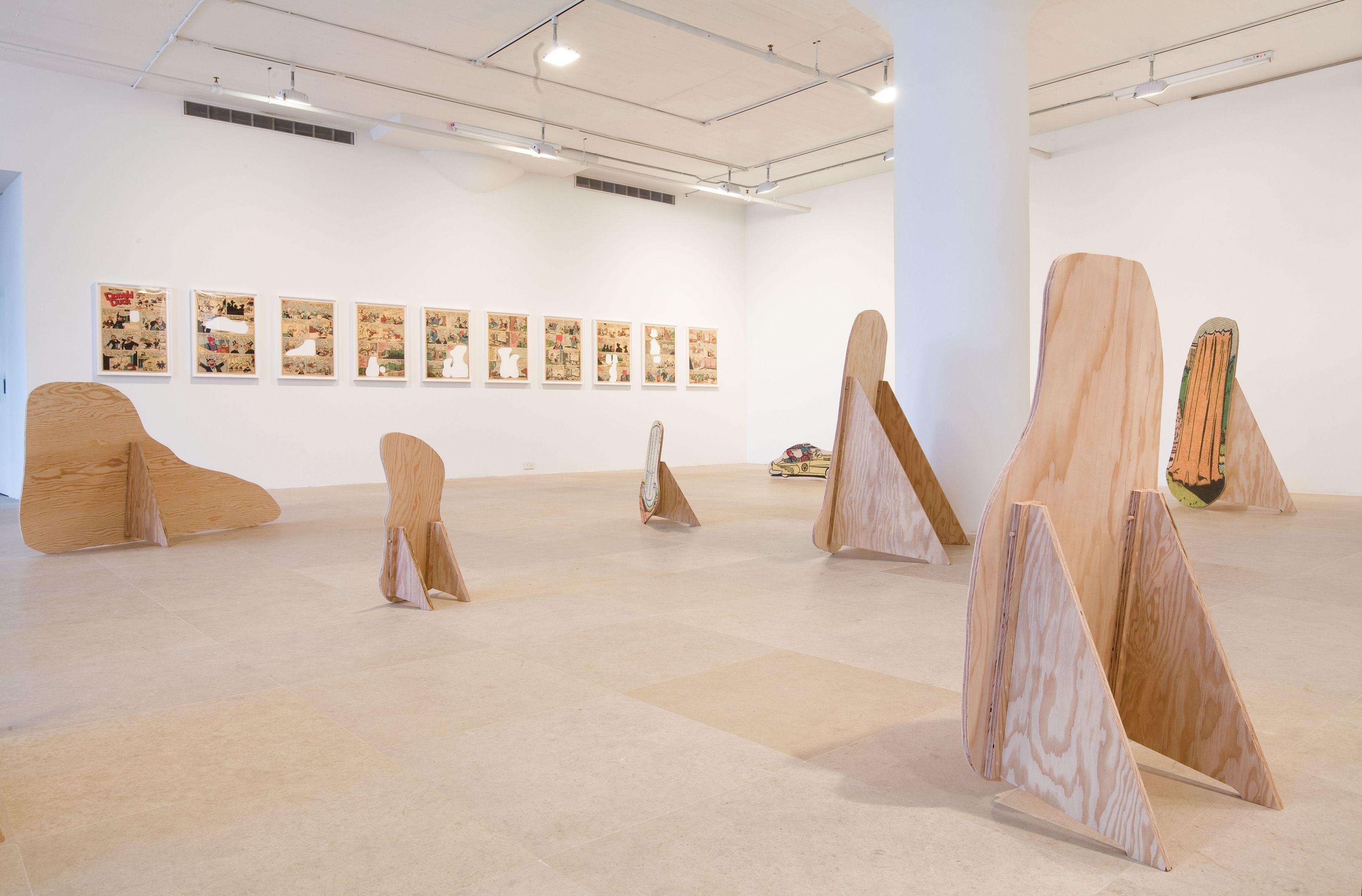 Allen Ruppersberg, Installation view, Greene Naftali, New York, 2010