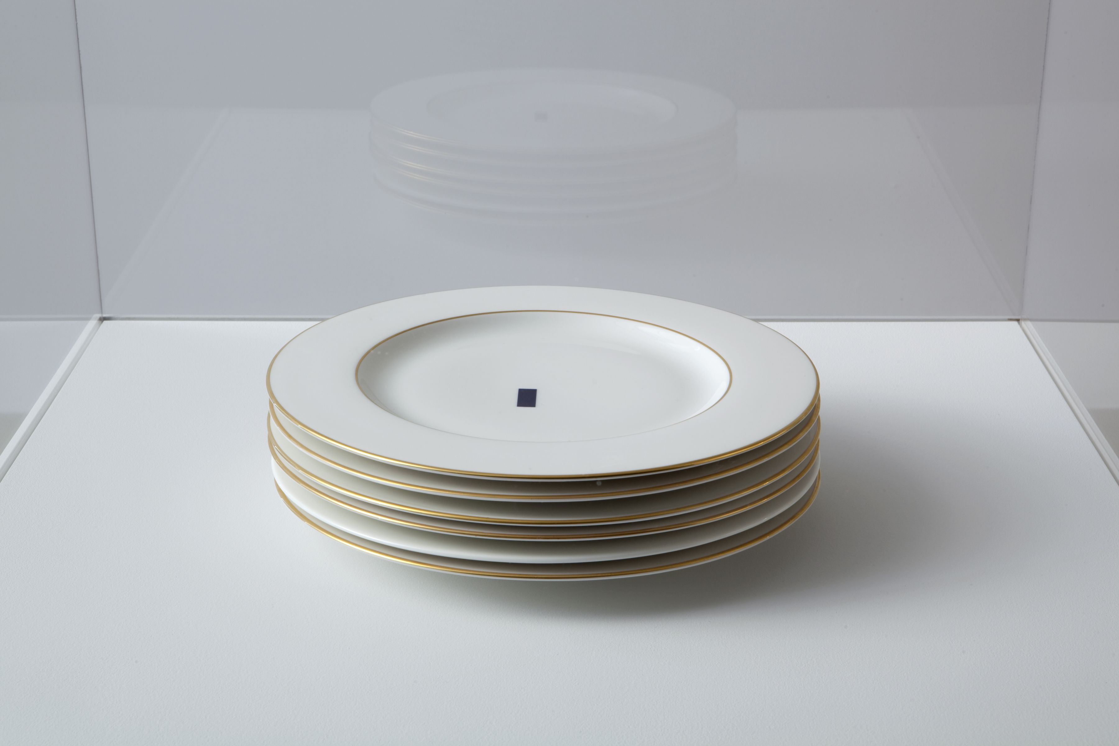John Knight Autotypes, A Work In Situ, 2011 65 bone china plates variable dimensions