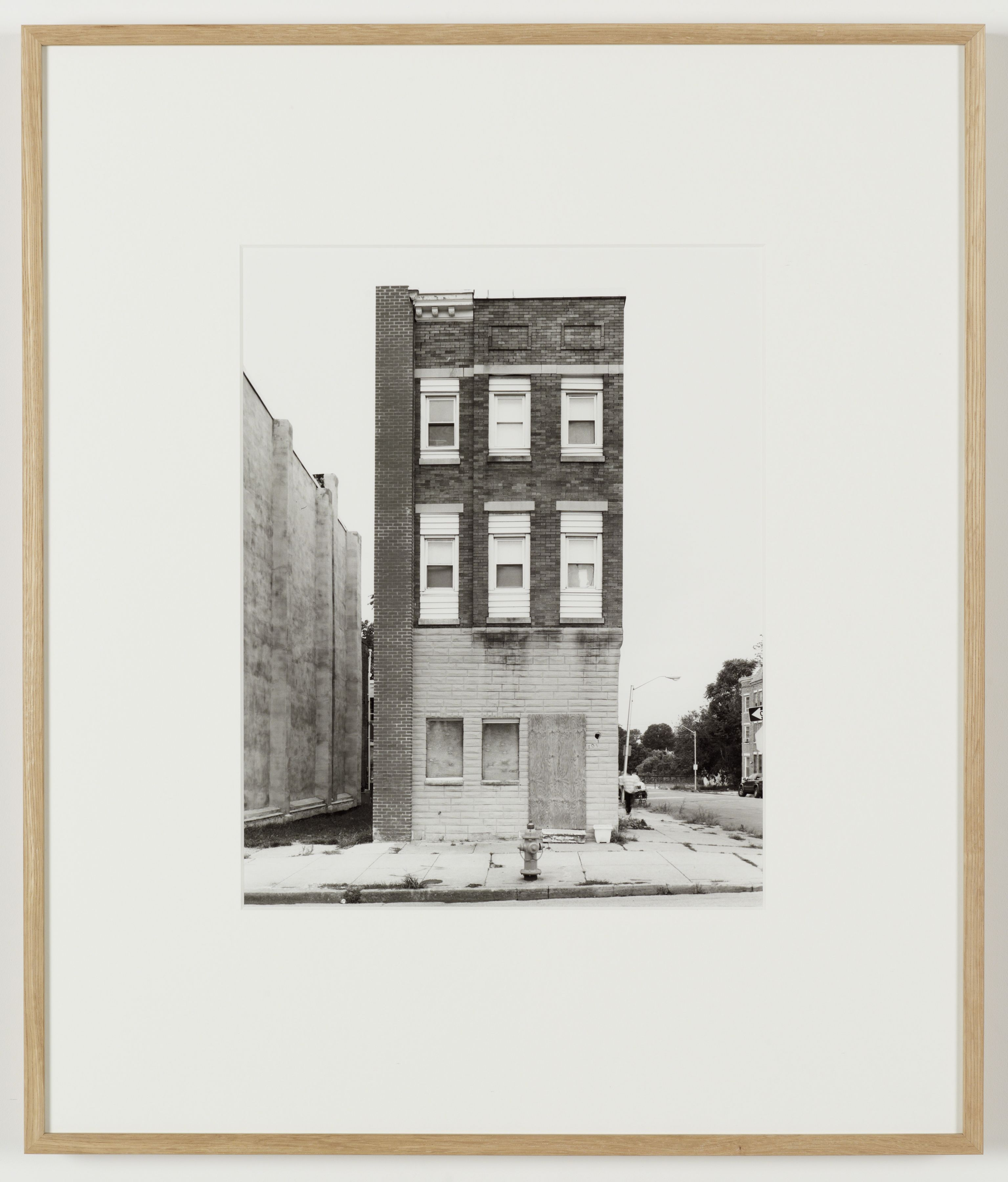 Joachim Koester, Some Boarded Up Houses, Baltimore #1, 2009-2013, Silver gelatin print, 27 x  22 5/8 inches (68.6 x 57.5 cm)