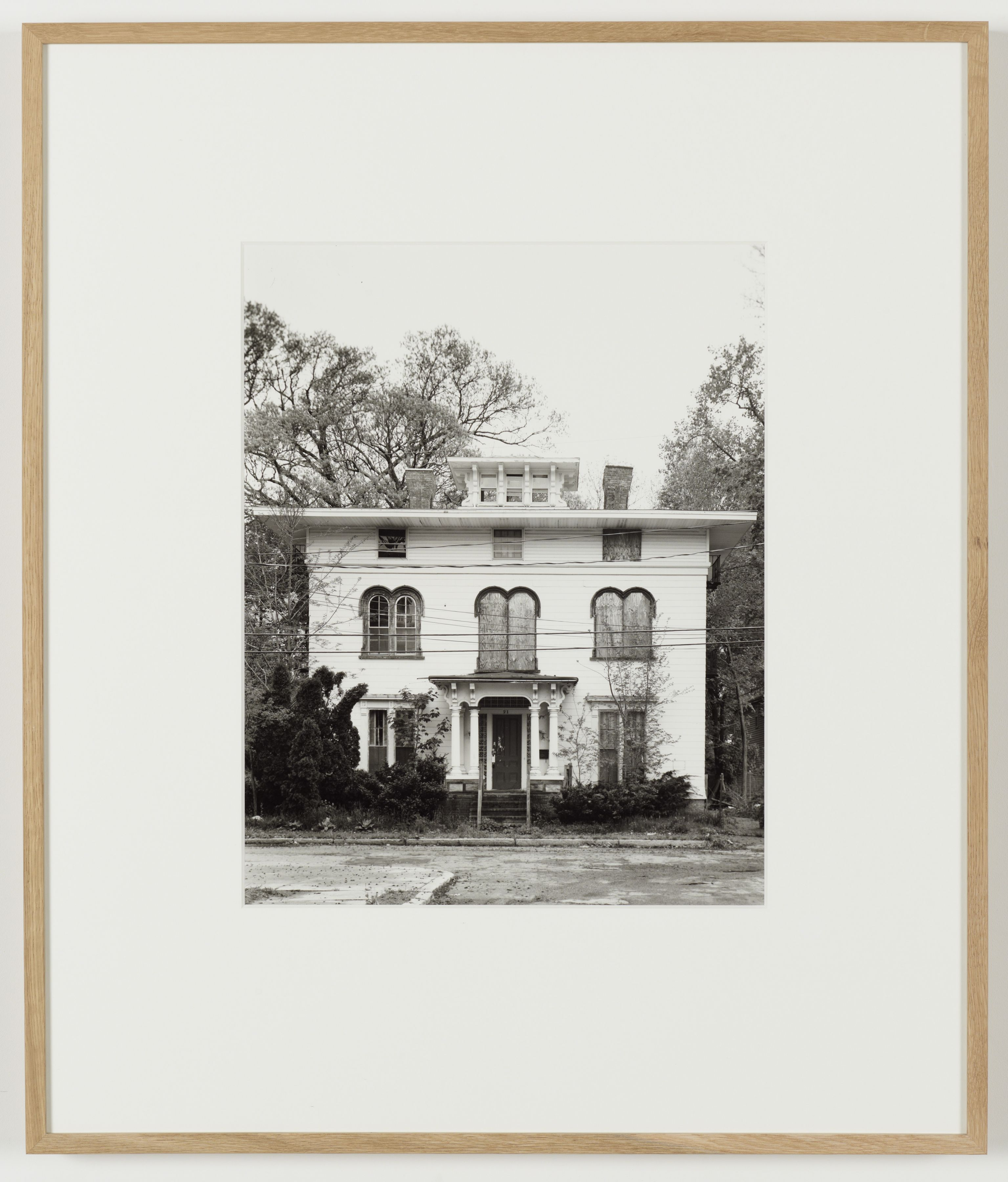Joachim Koester, Some Boarded Up Houses, Boston #1, 2009-2013, Silver gelatin print, 27 x  22 5/8 inches (68.6 x 57.5 cm)