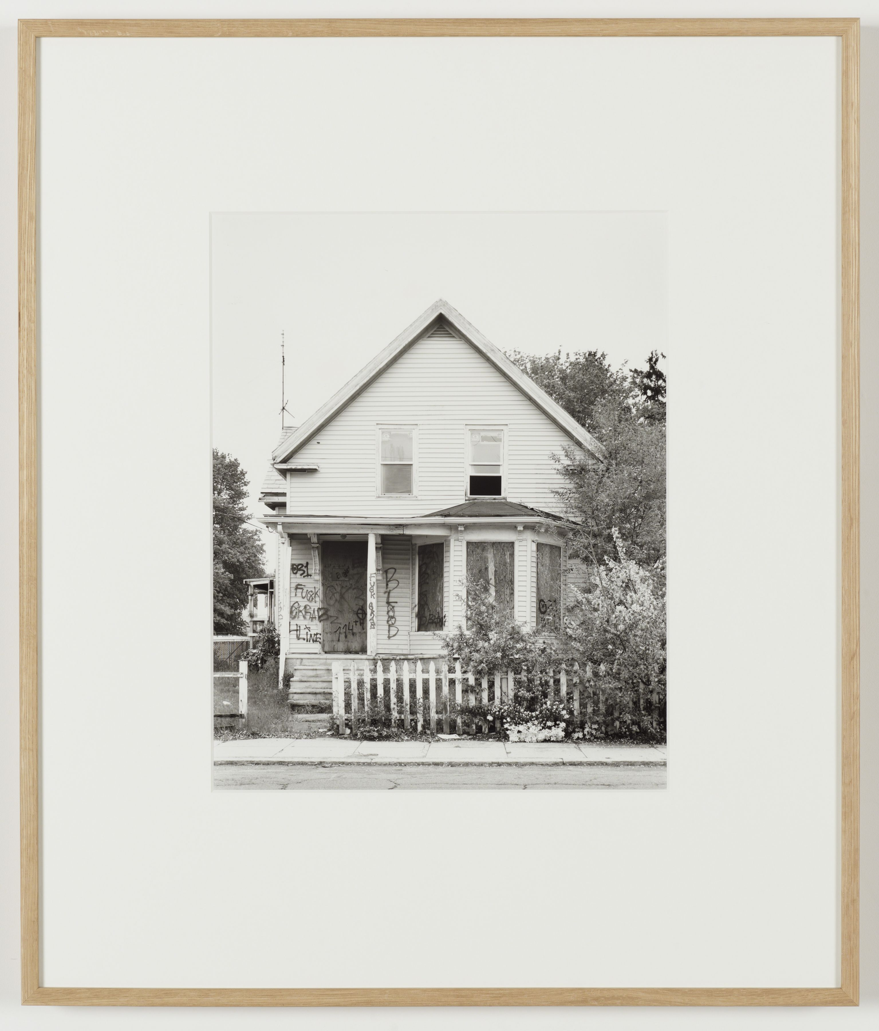 Joachim Koester, Some Boarded Up Houses, Boston #3, 2009-2013, Silver gelatin print, 27 x  22 5/8 inches (68.6 x 57.5 cm)
