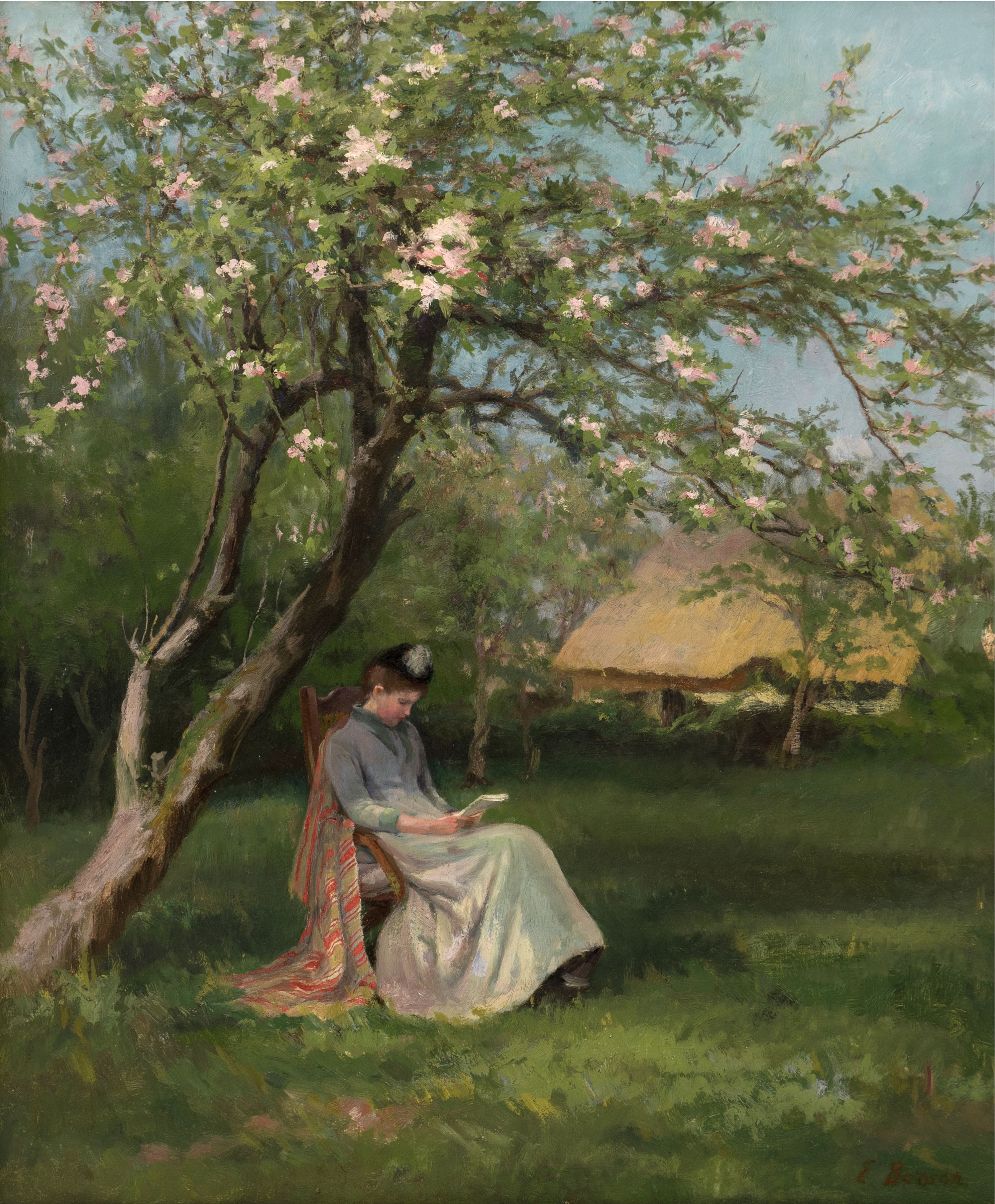 In the Orchard, ca 1875, Oil on canvas