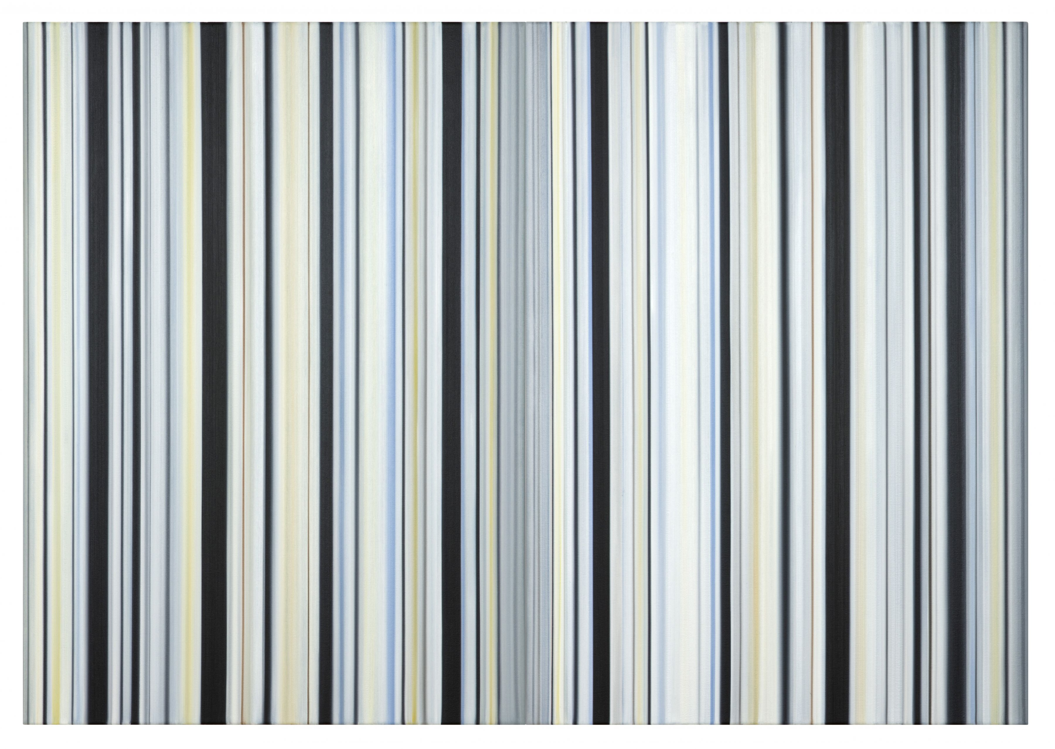 Stripes Nr. 108 + 109, 2016, Oil on Canvas