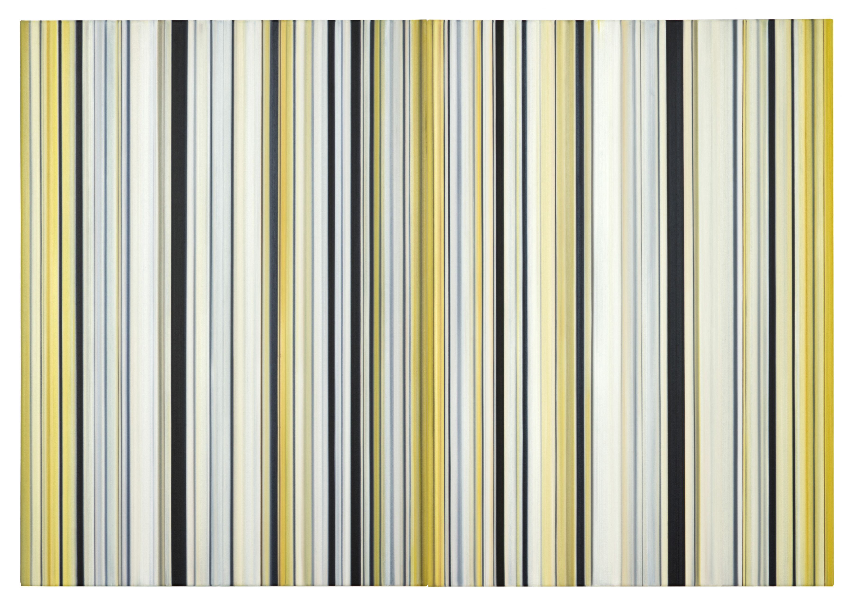 Stripes Nr. 93 + 94, 2016, Oil on Canvas