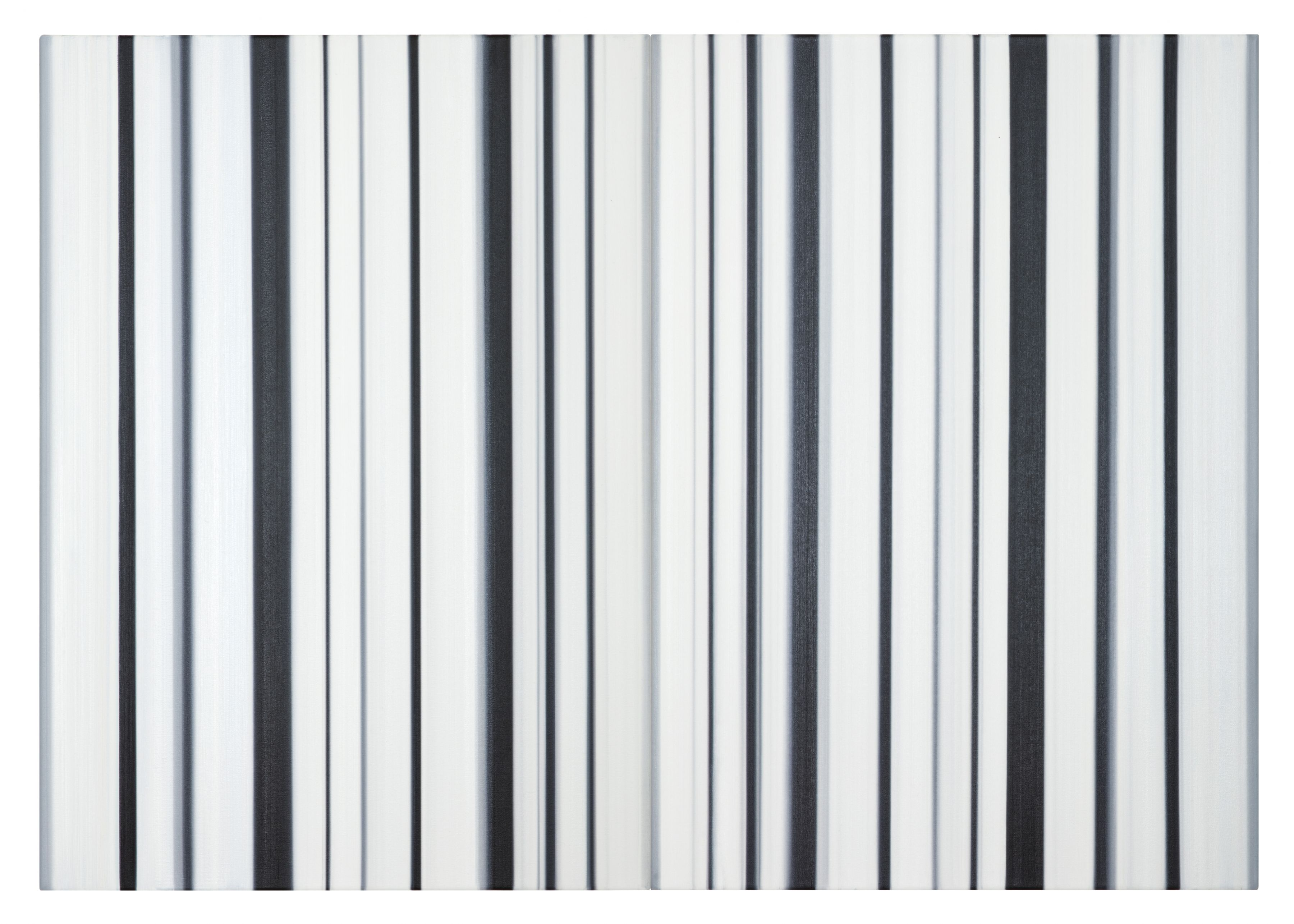 Stripes Nr. 112 + 113, 2016, Oil on Canvas